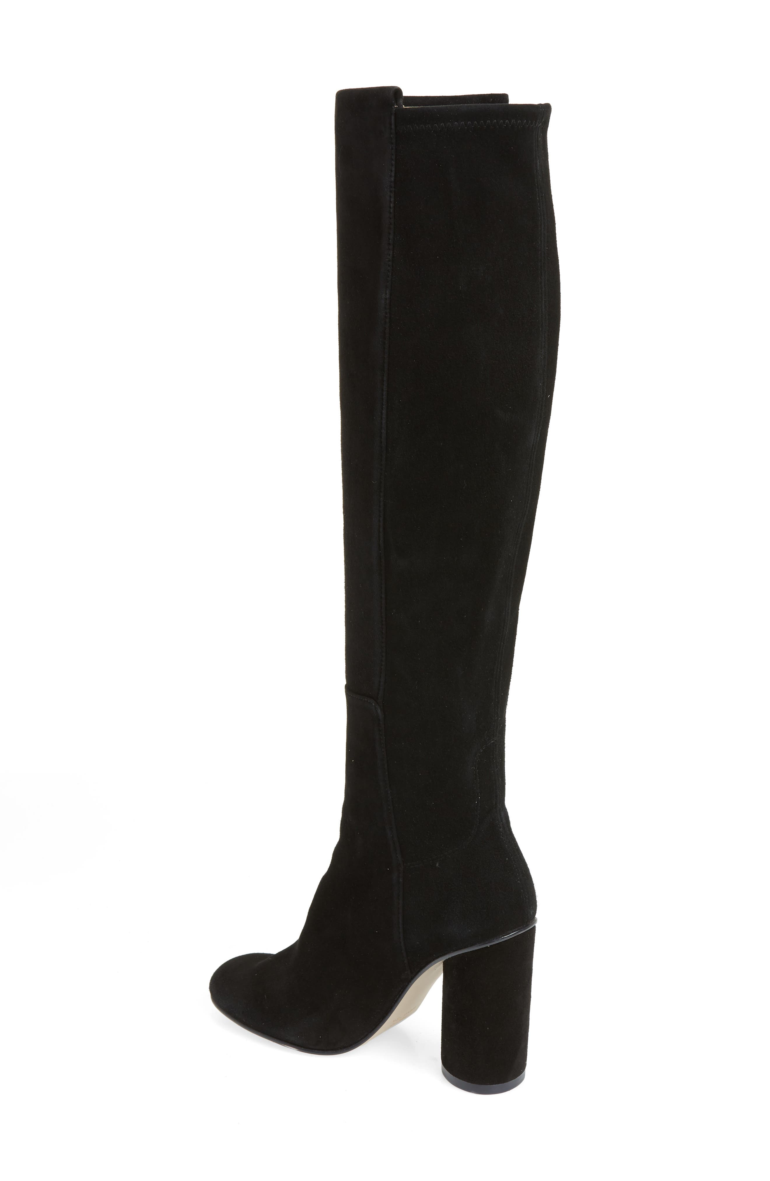 Eloise Over the Knee Boot,                             Alternate thumbnail 2, color,                             BLACK SUEDE