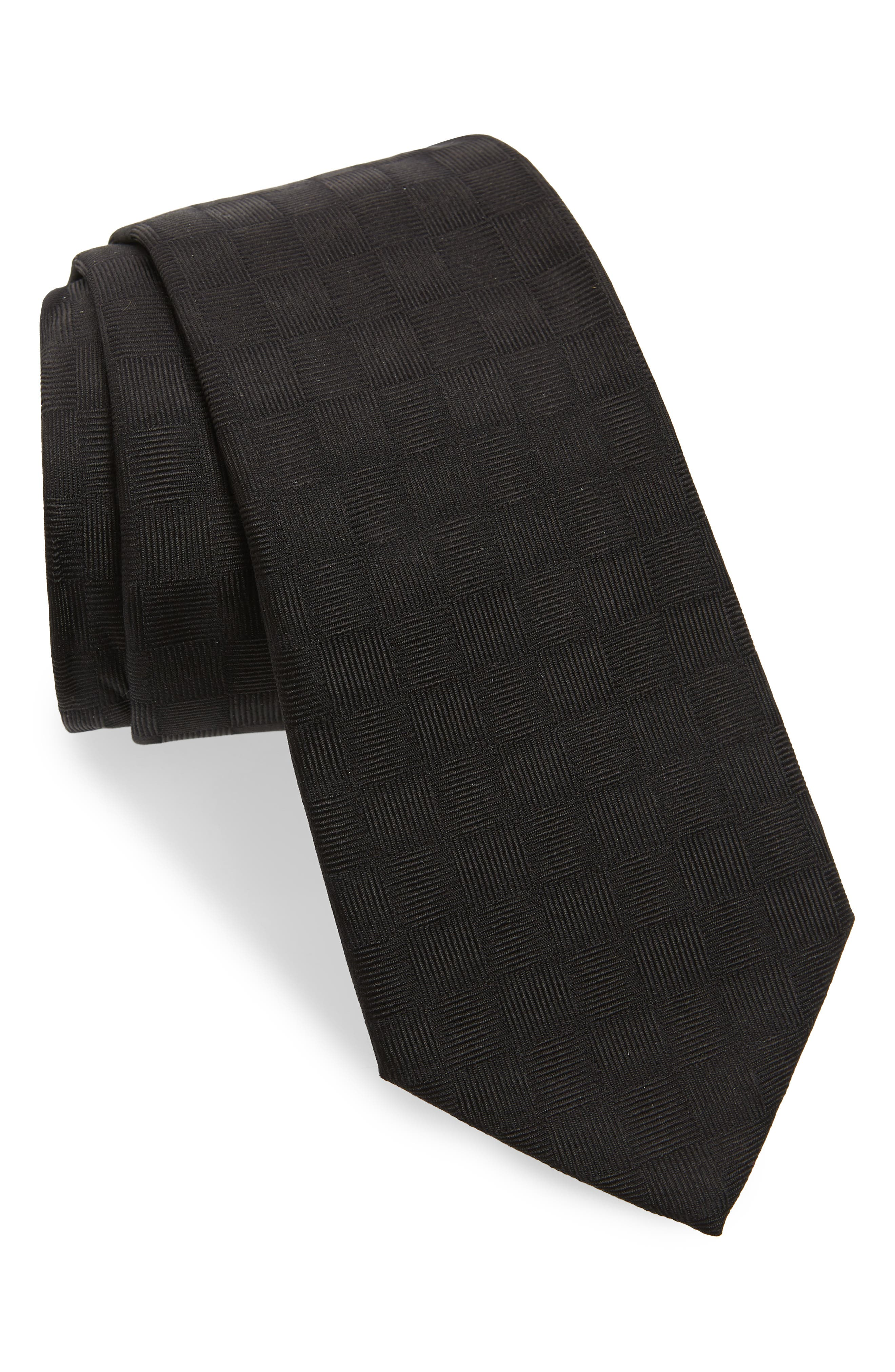 Solid Silk Tie,                             Main thumbnail 1, color,                             BLACK