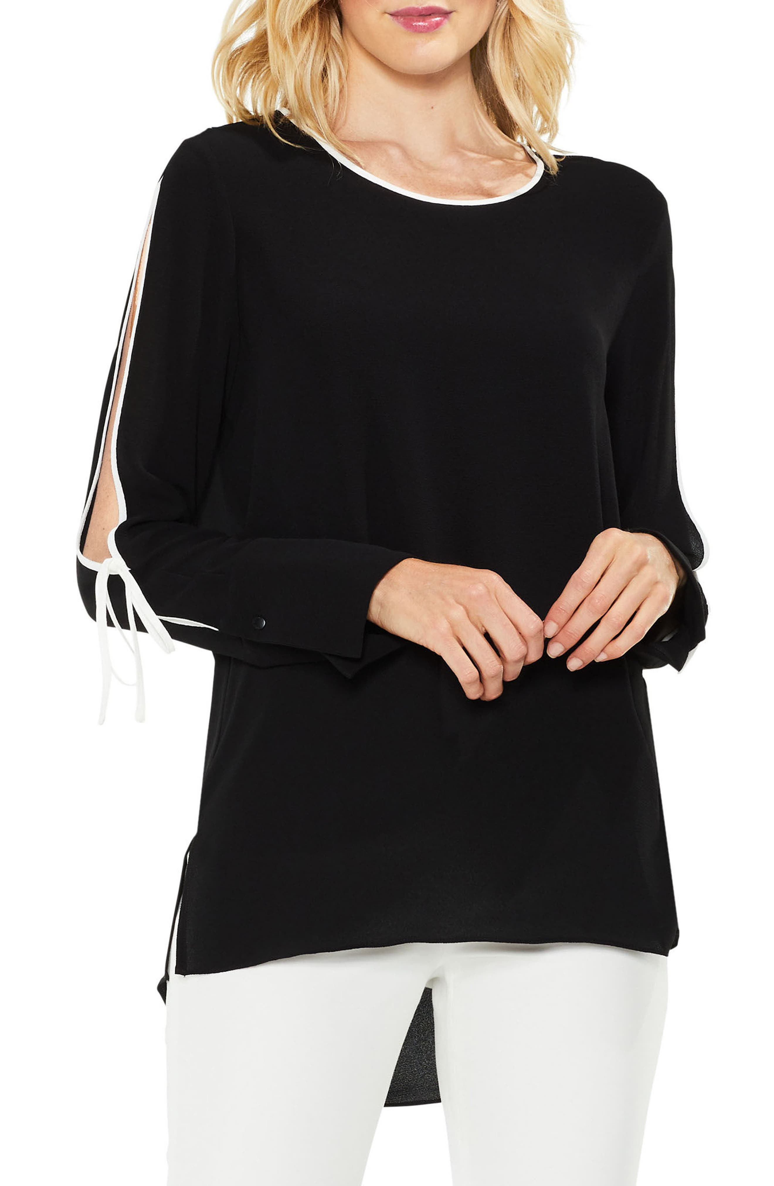 Split Sleeve Top,                             Main thumbnail 1, color,                             006