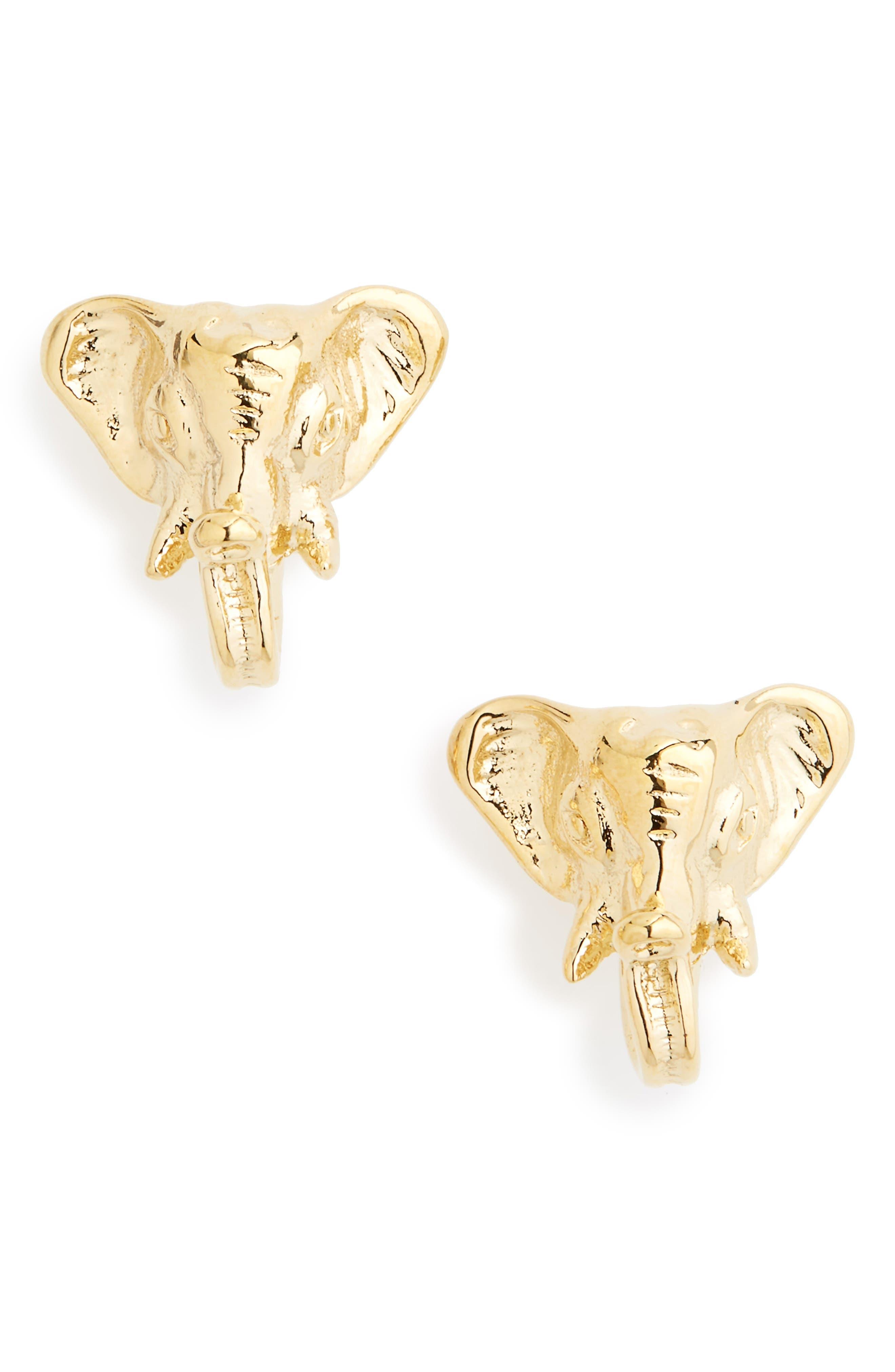 Elephant Stud Earrings,                         Main,                         color,