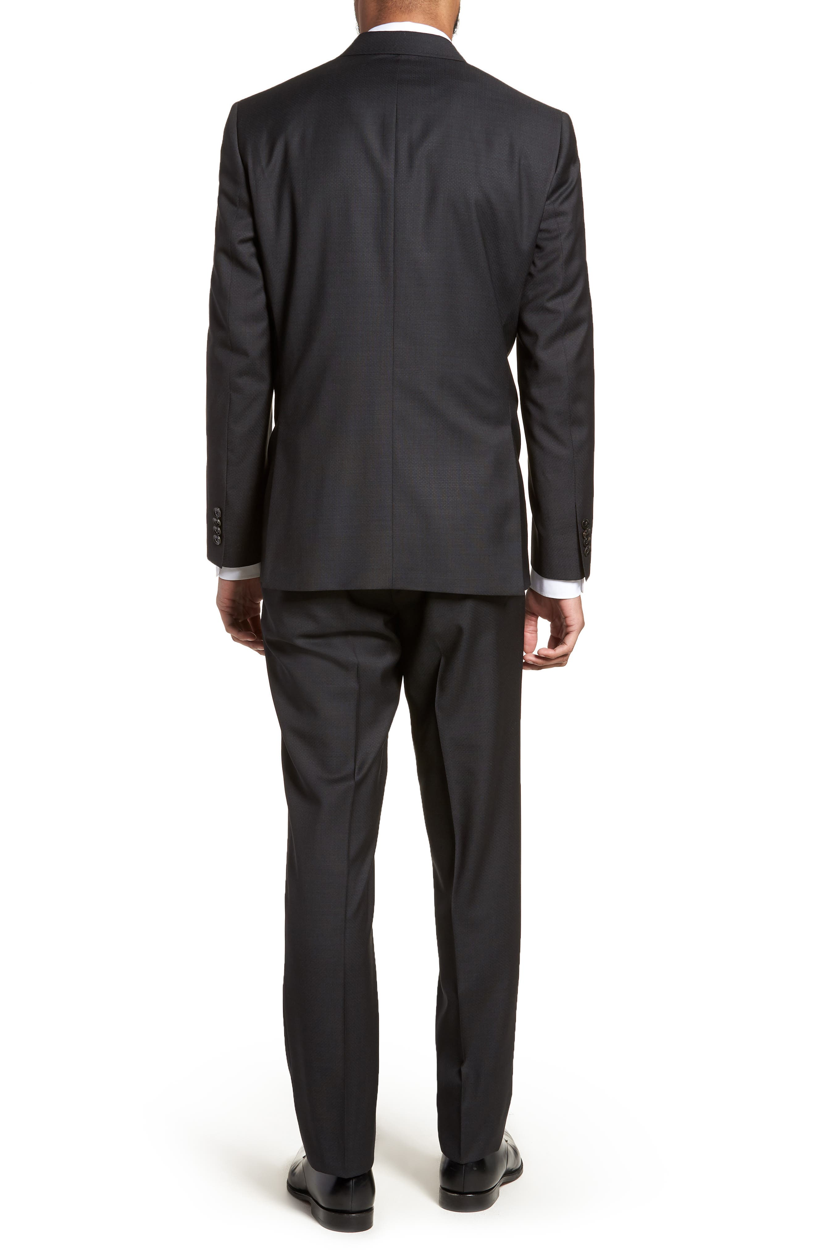 Jay Trim Fit Solid Wool Suit,                             Alternate thumbnail 2, color,                             001