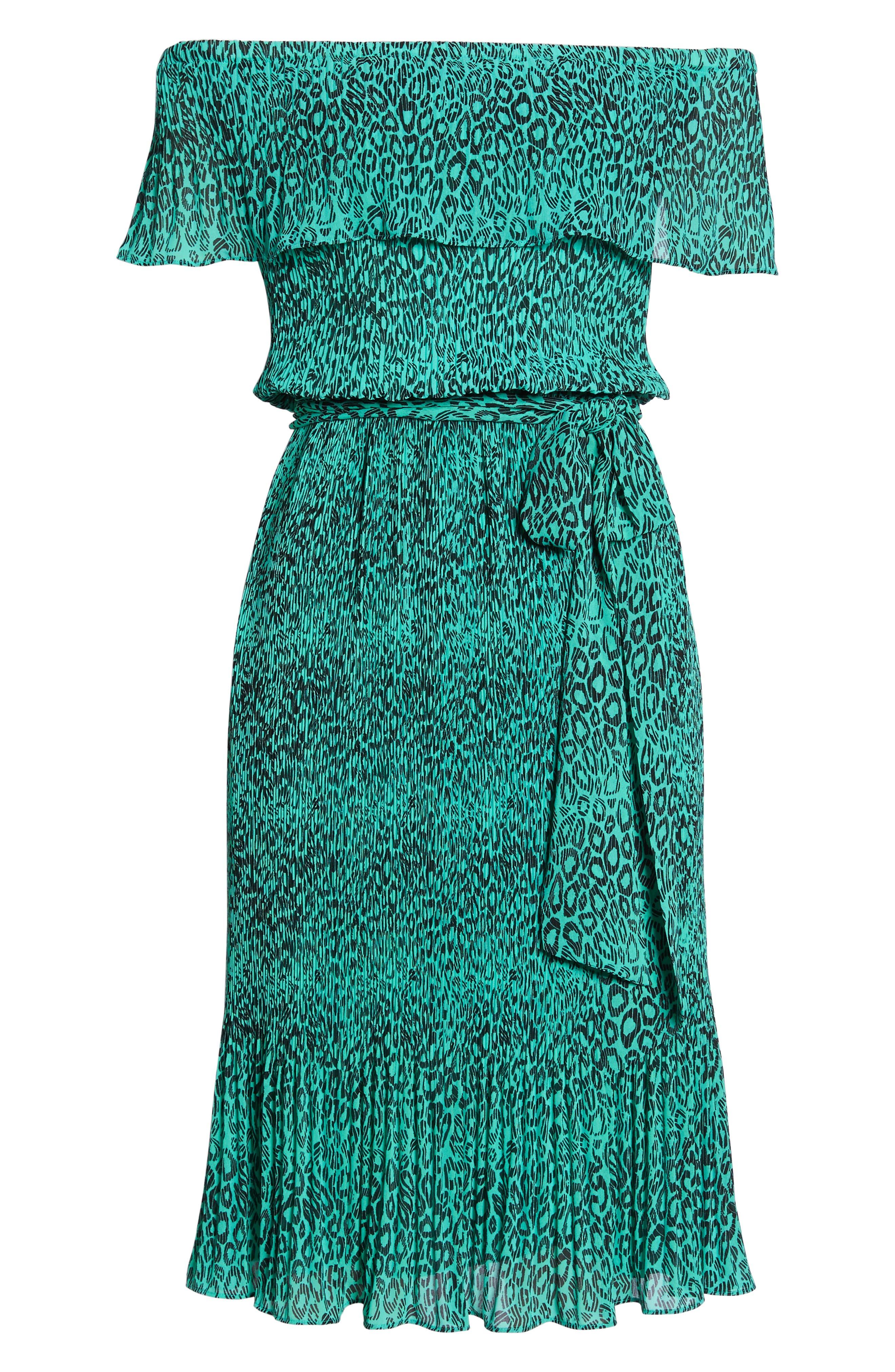 Off the Shoulder Chiffon Midi Dress,                             Alternate thumbnail 7, color,                             300