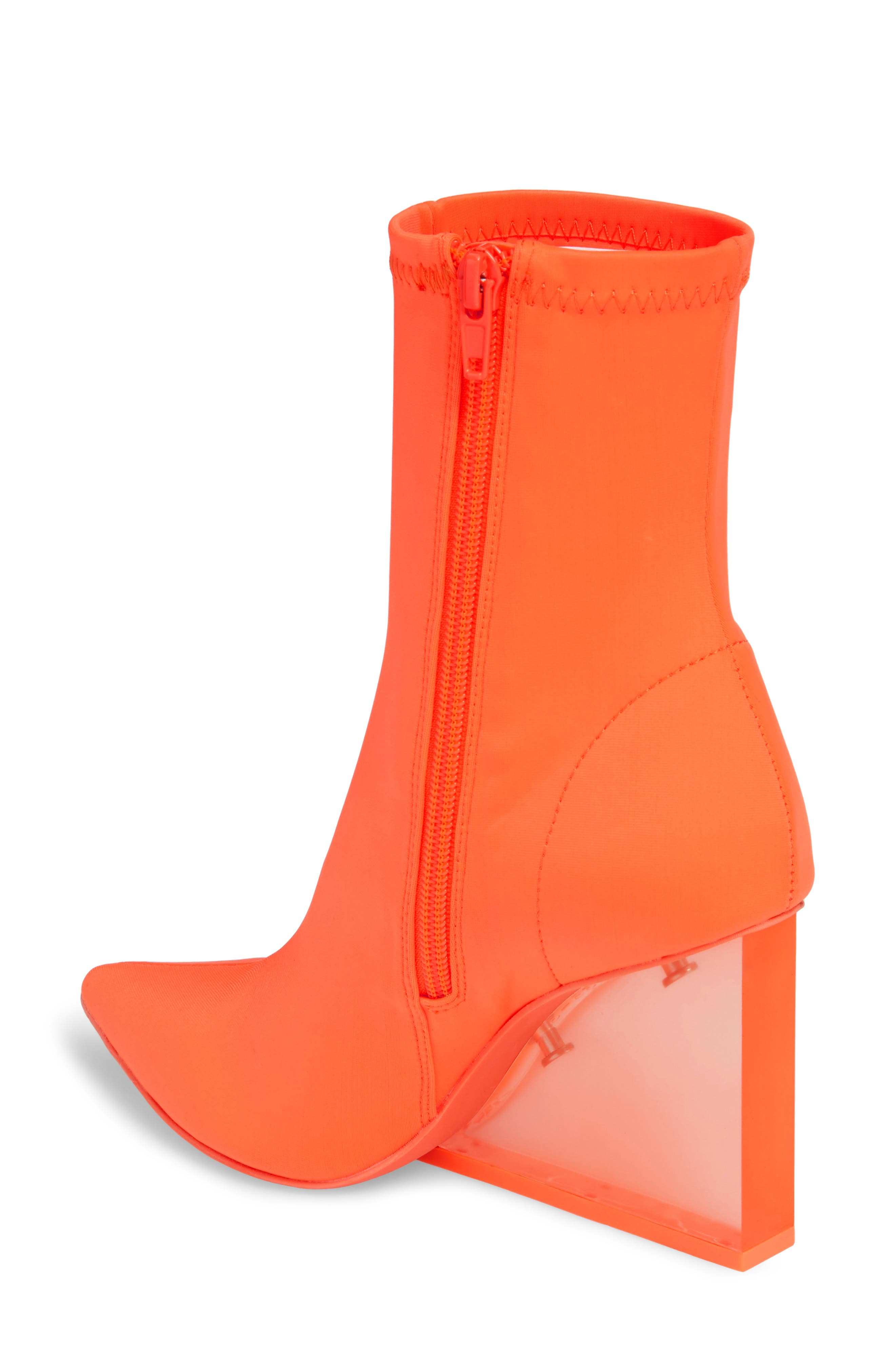Siren Clear Wedge Sock Bootie,                             Alternate thumbnail 6, color,
