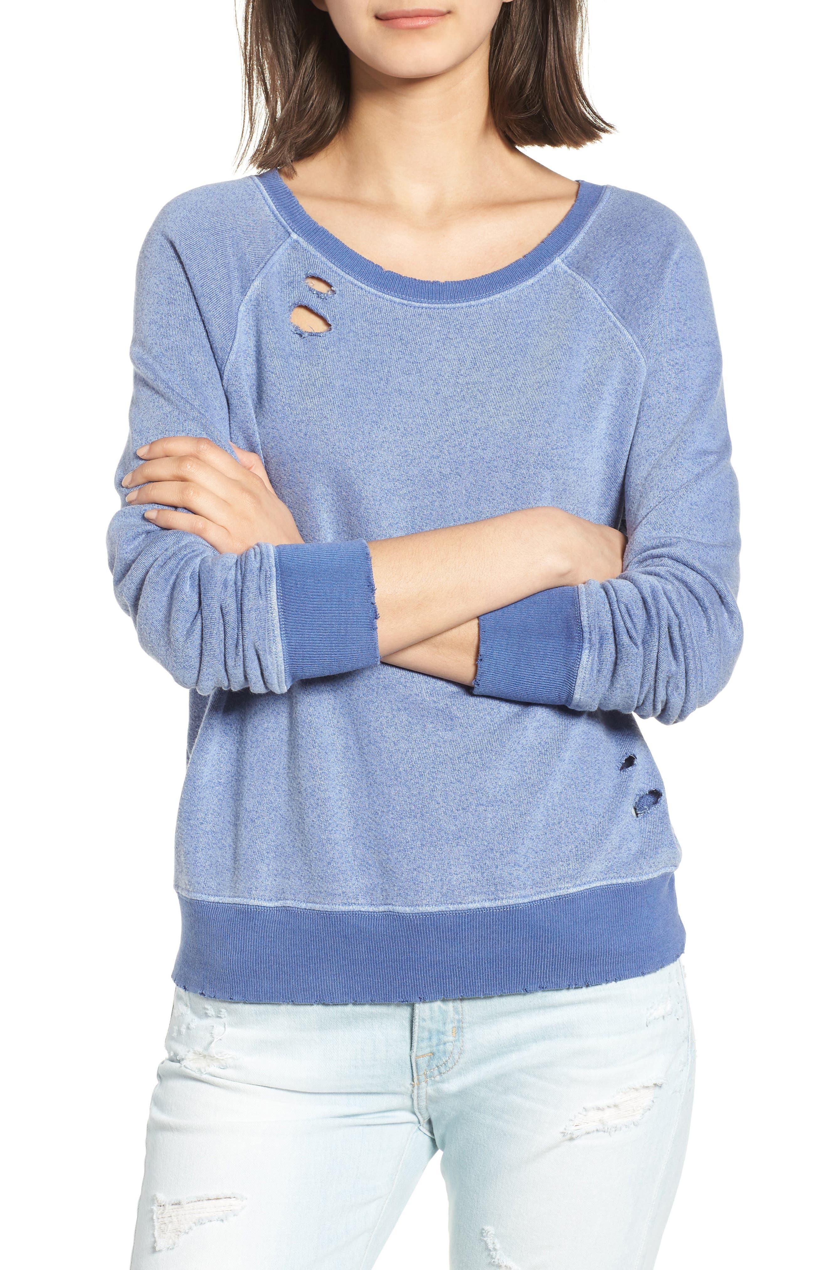 Belize Deconstructed Sweatshirt,                             Main thumbnail 1, color,                             COBALT