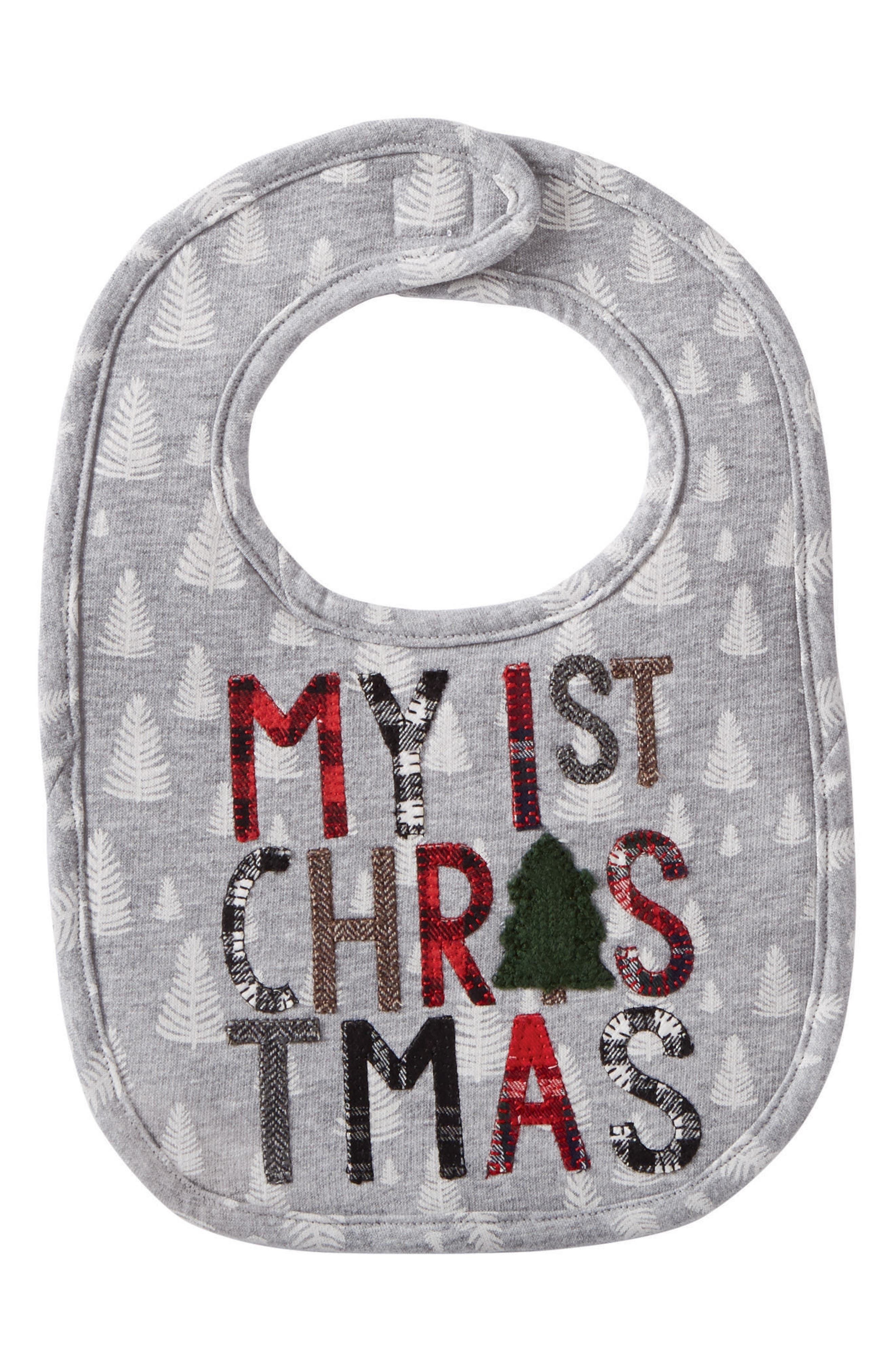 MUD PIE,                             My First Christmas Bib,                             Main thumbnail 1, color,                             020