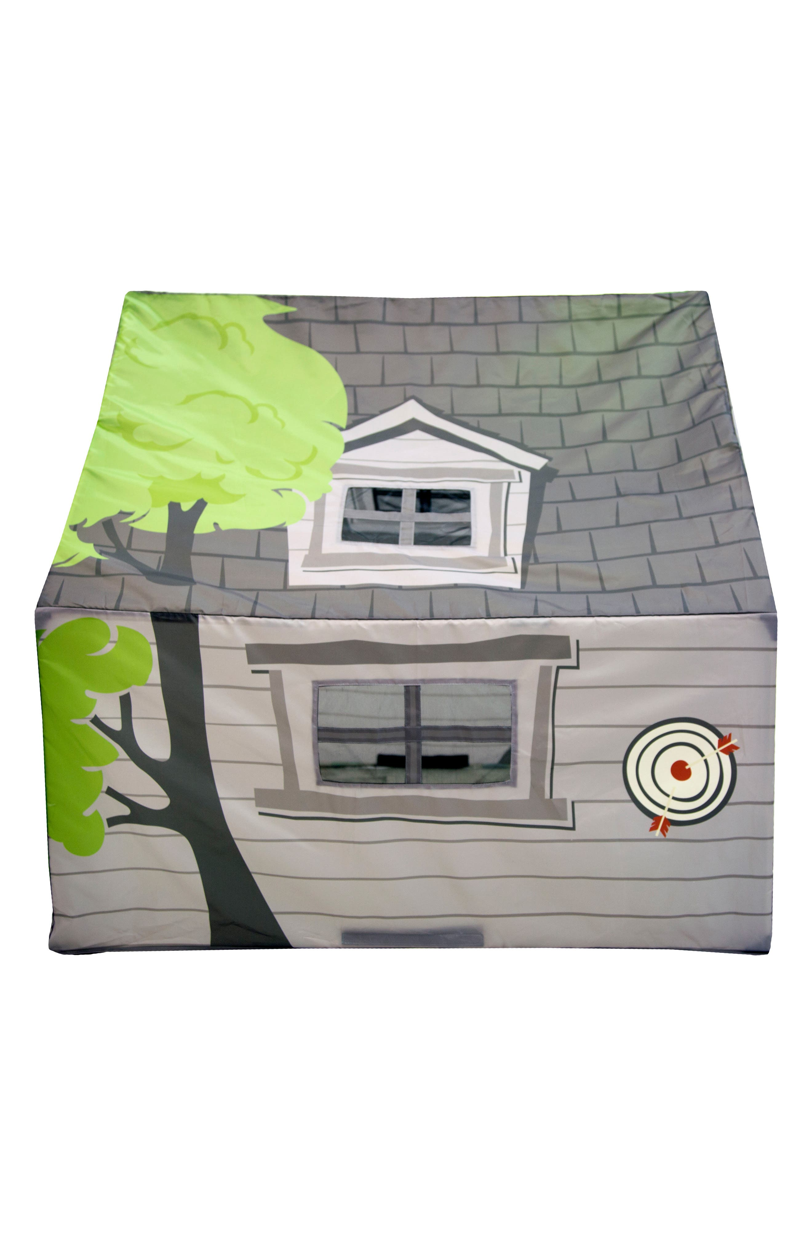 Treehouse Hideaway Playhouse Tent,                             Alternate thumbnail 4, color,                             GREEN