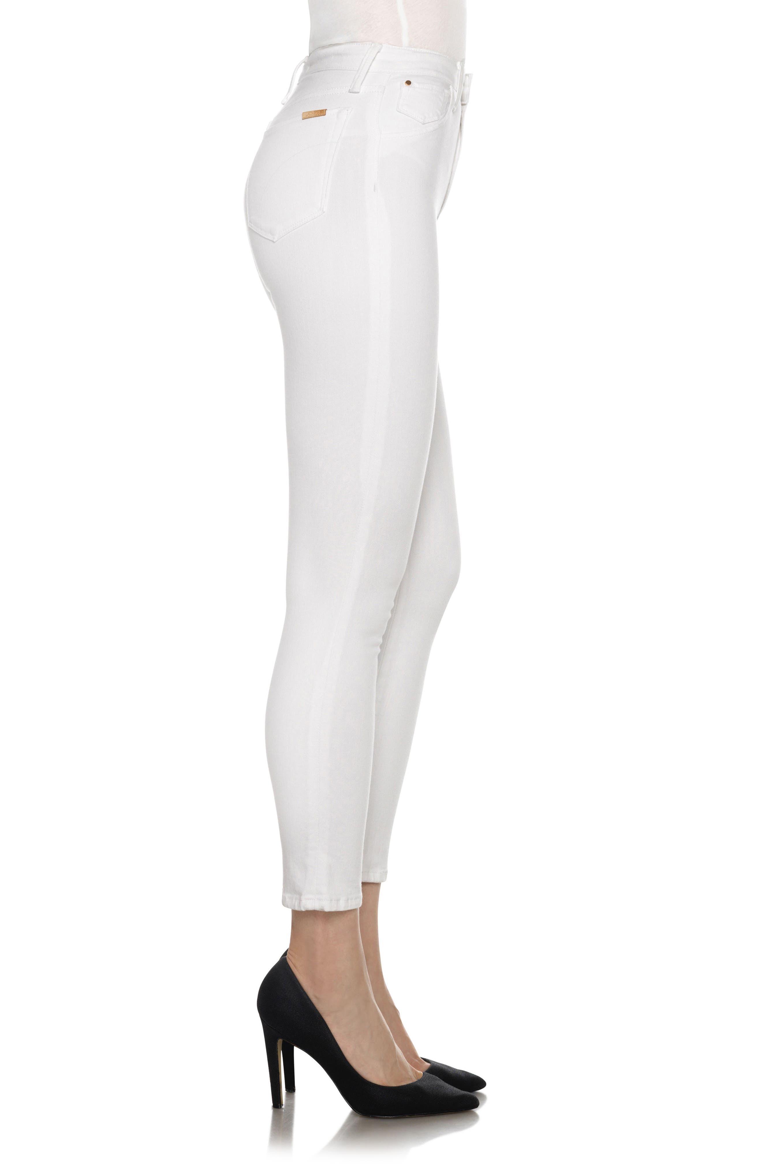 Bella High Waist Crop Skinny Jeans,                             Alternate thumbnail 3, color,                             120
