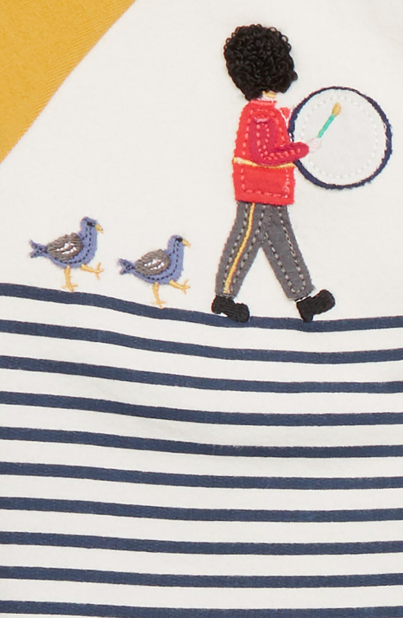 Fun Jersey Appliqué T-Shirt & Pants Set,                             Alternate thumbnail 2, color,                             MBL ECRU/ COLLEGE BLUE SOLDIER
