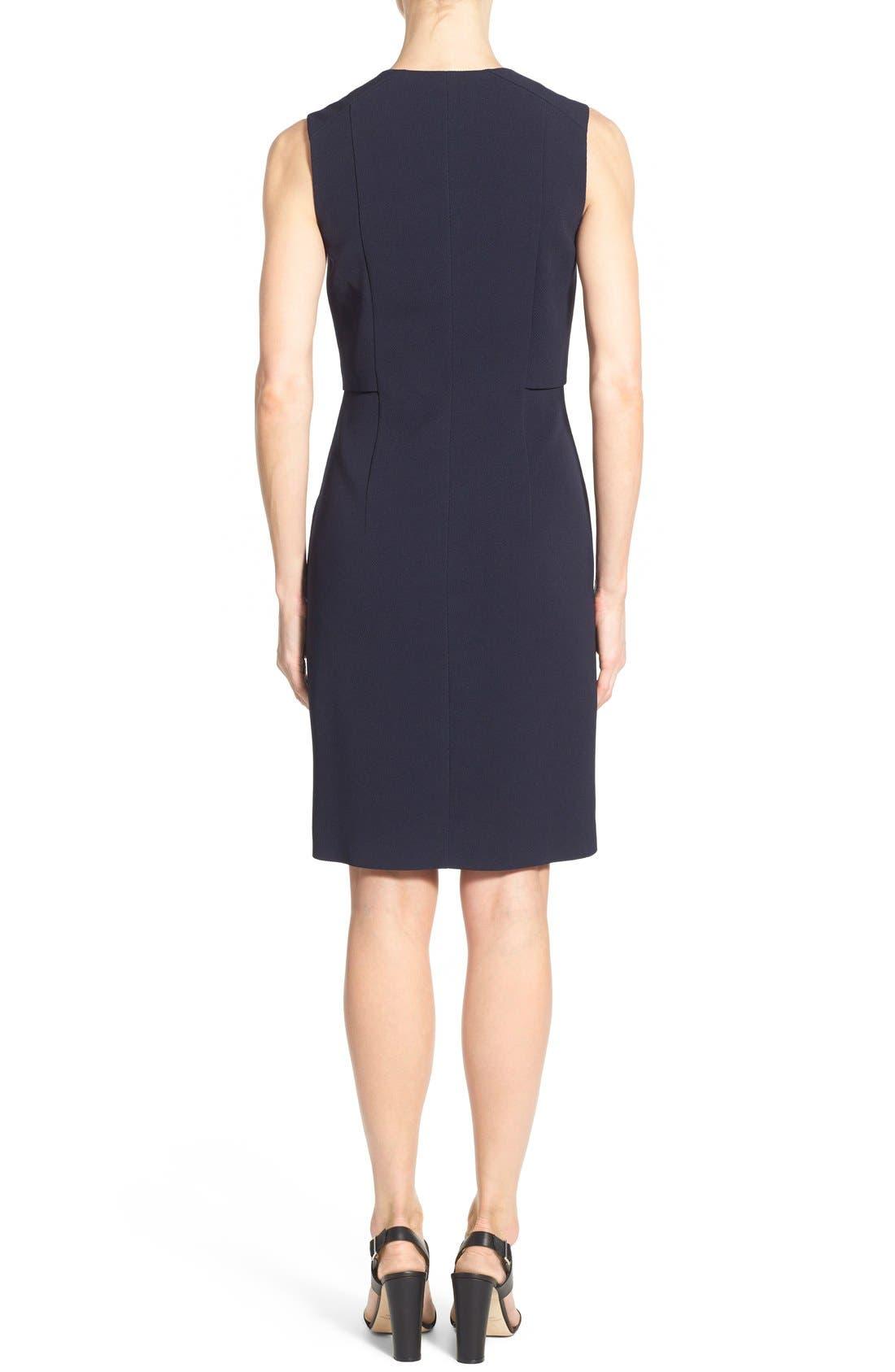 'Damarine' V-Neck Sleeveless Tuxedo Dress,                             Alternate thumbnail 4, color,                             411