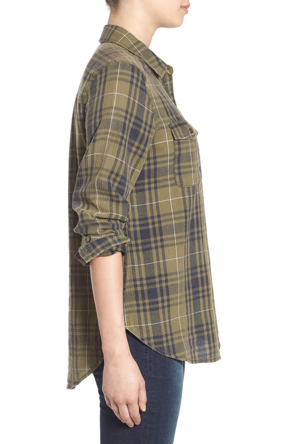 BP.,                             Plaid Shirt,                             Alternate thumbnail 5, color,                             315
