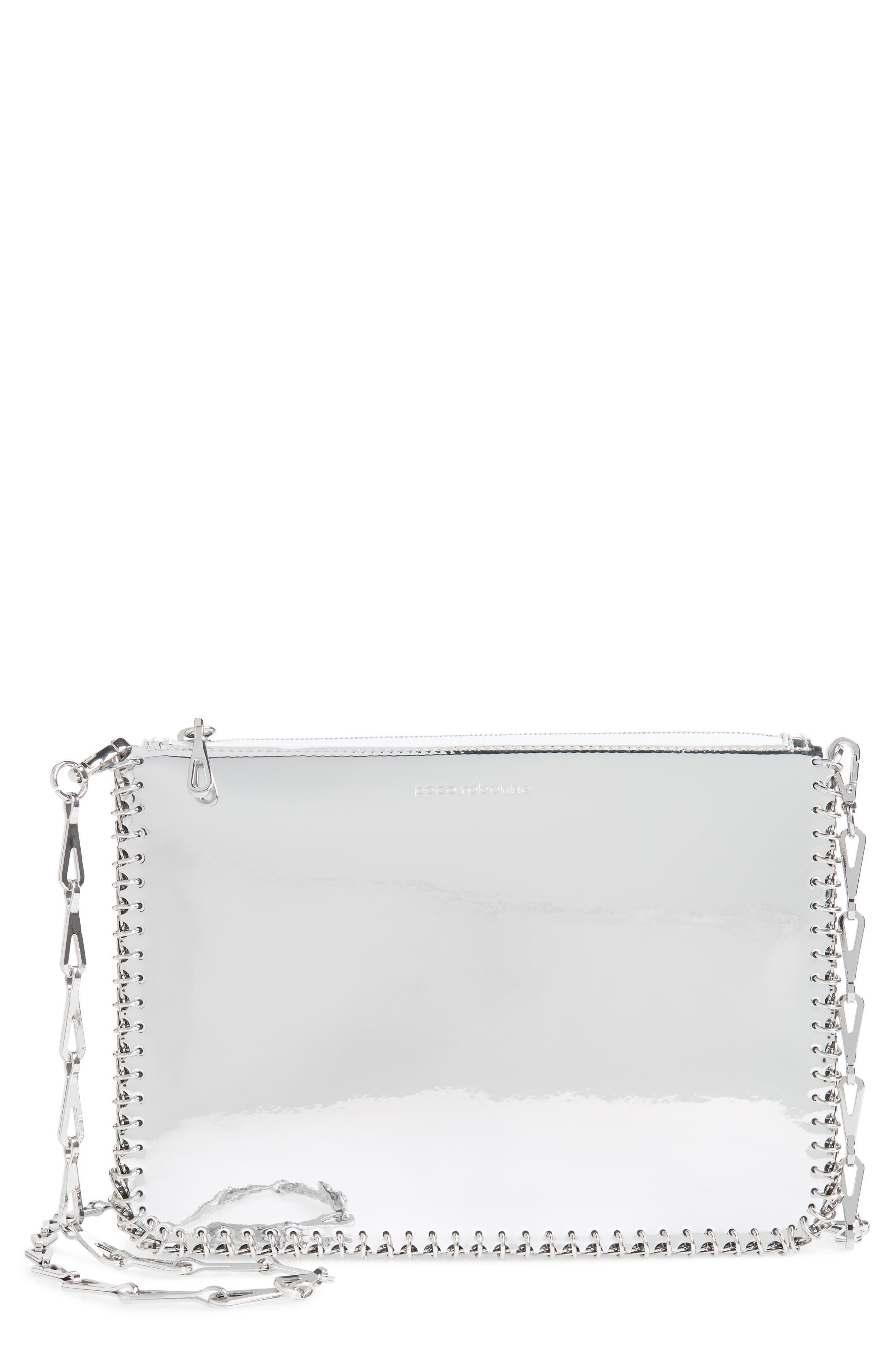 Iconic Metallic Crossbody Bag - Metallic in Silver