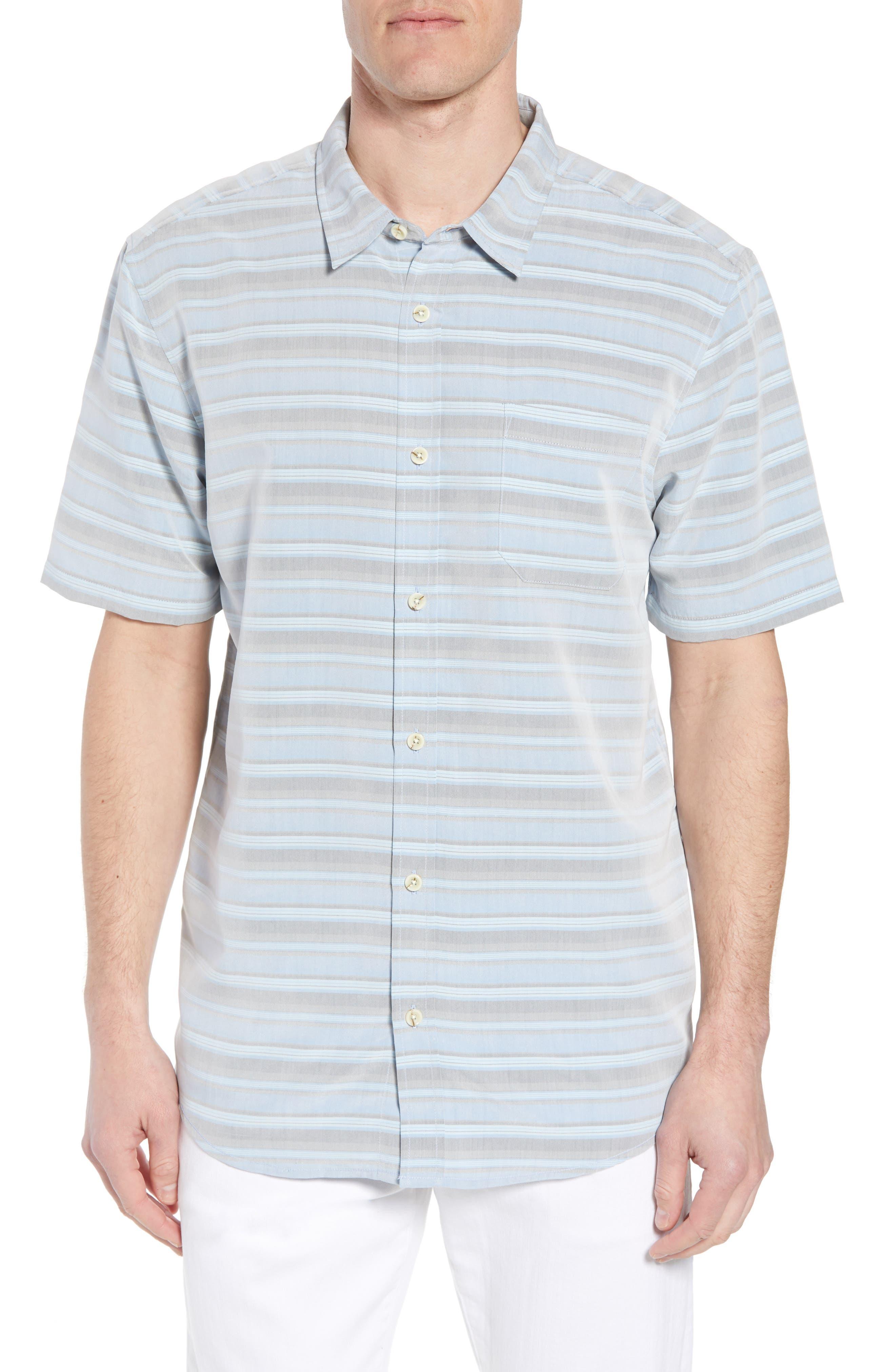Tubes Regular Fit Short Sleeve Sport Shirt,                         Main,                         color, COBALT