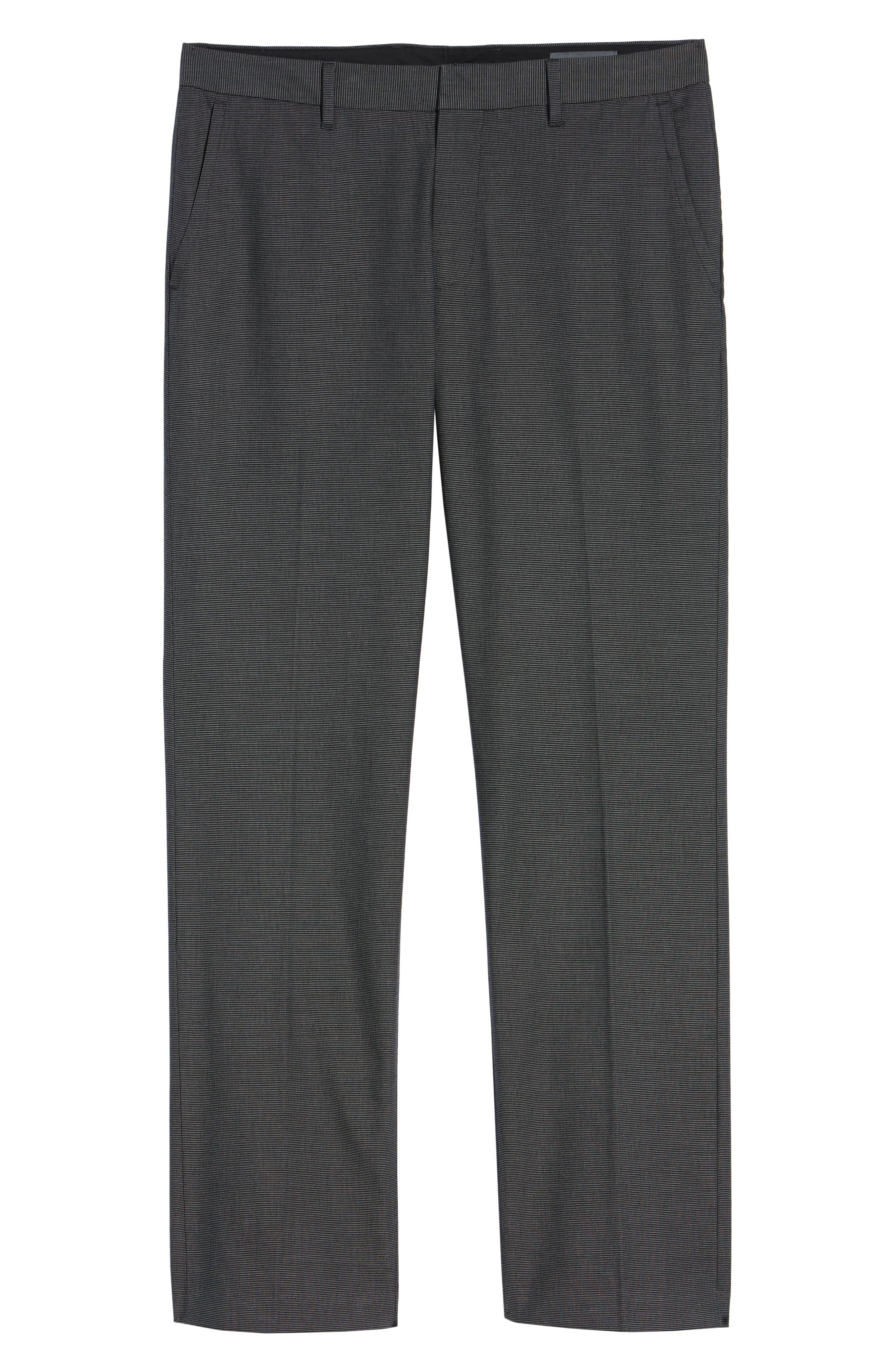 Weekday Warrior Straight Leg Stretch Dress Pants,                             Alternate thumbnail 6, color,                             TUESDAY CHARCOAL