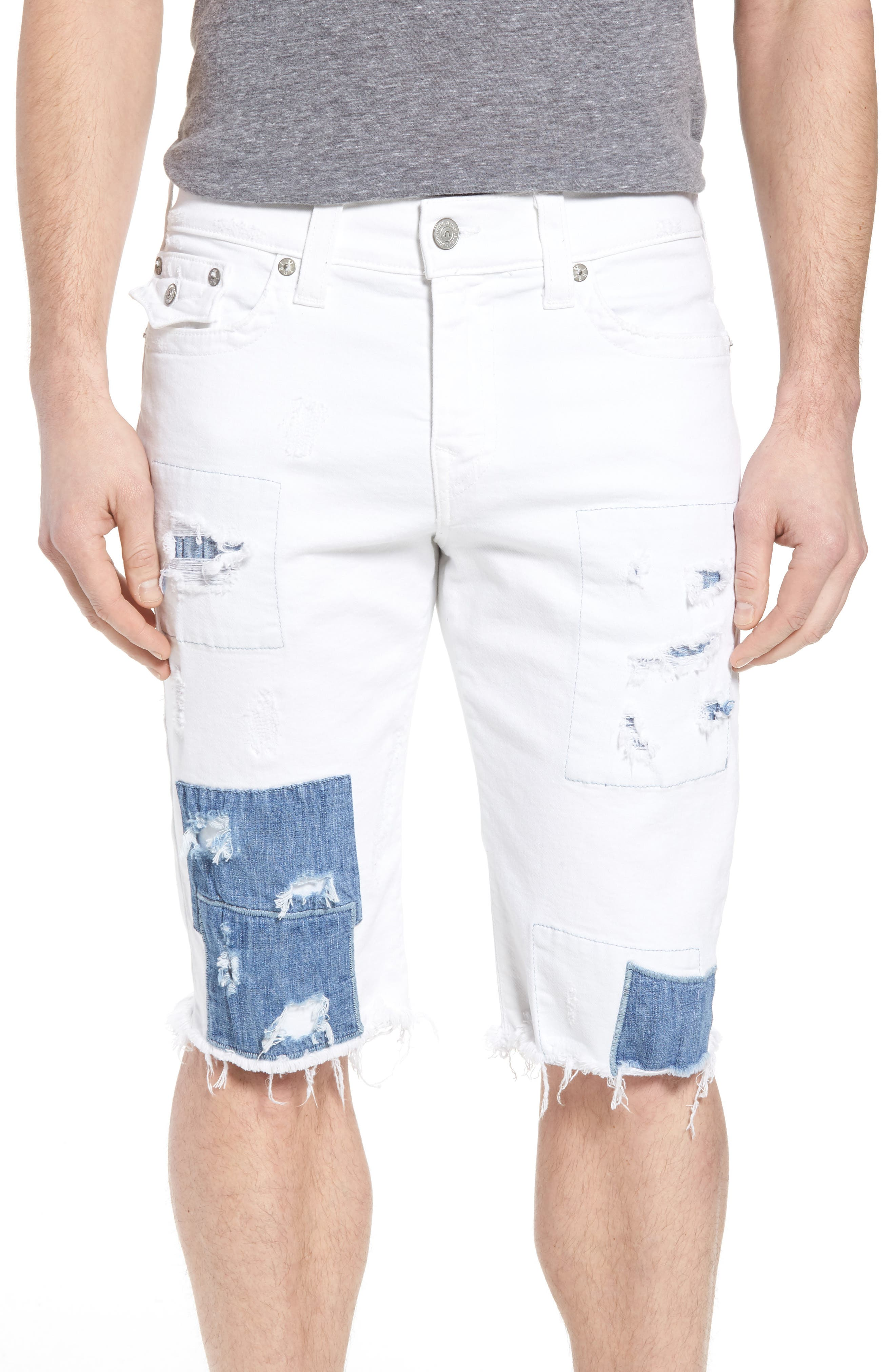 Ricky Relaxed Fit Denim Shorts, Main, color, 401