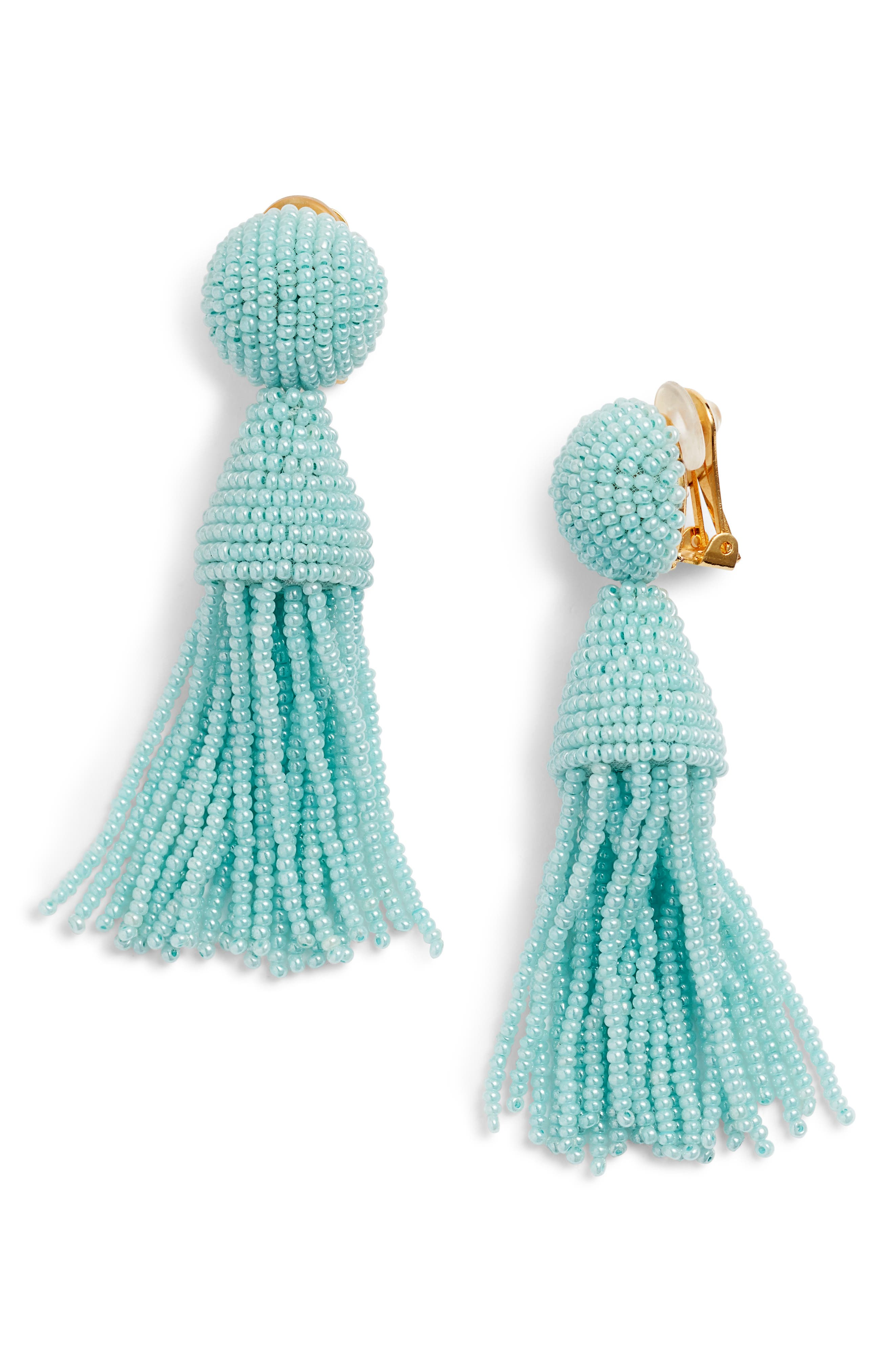Beaded Tassel Drop Earring,                         Main,                         color,