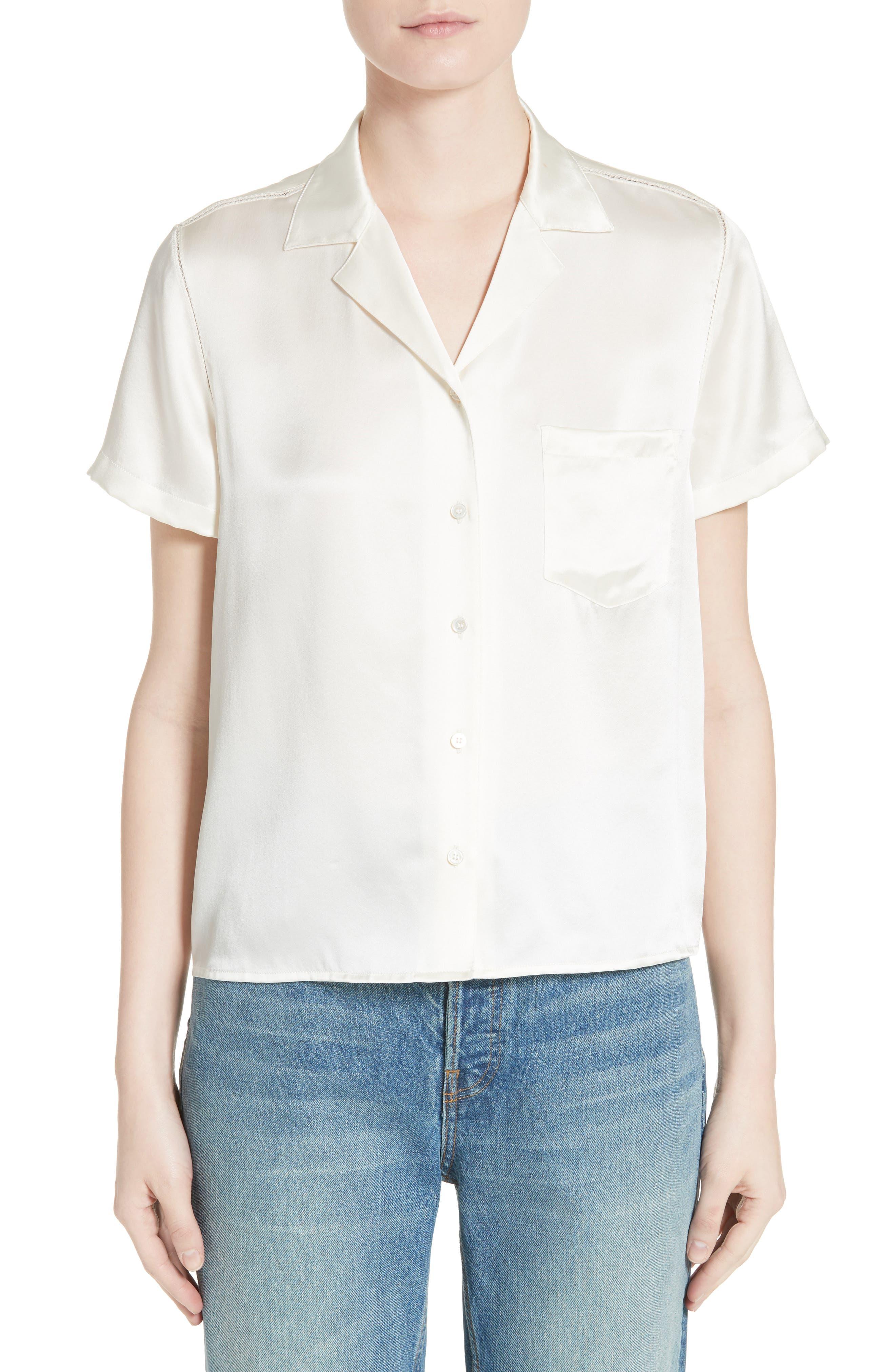 Silk Shirt,                         Main,                         color, 900