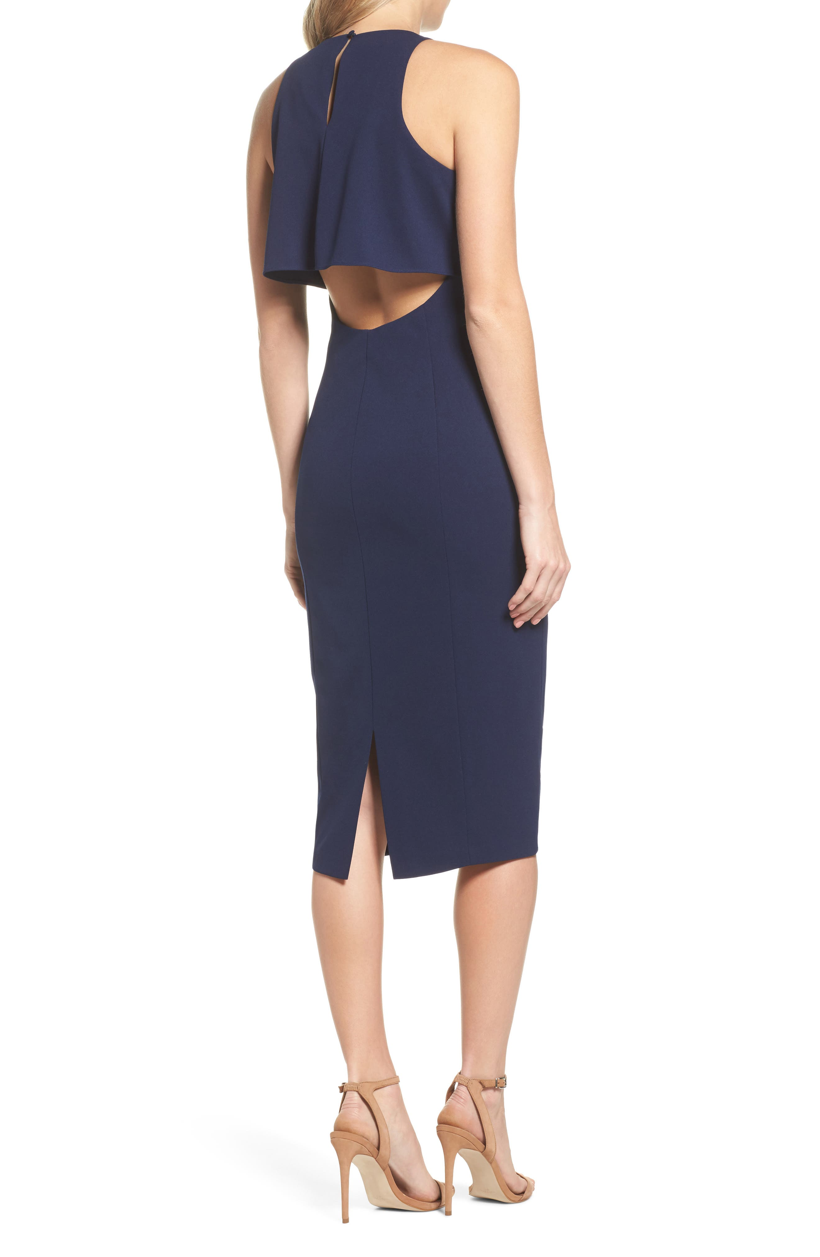 Open Back Sheath Dress,                             Alternate thumbnail 2, color,