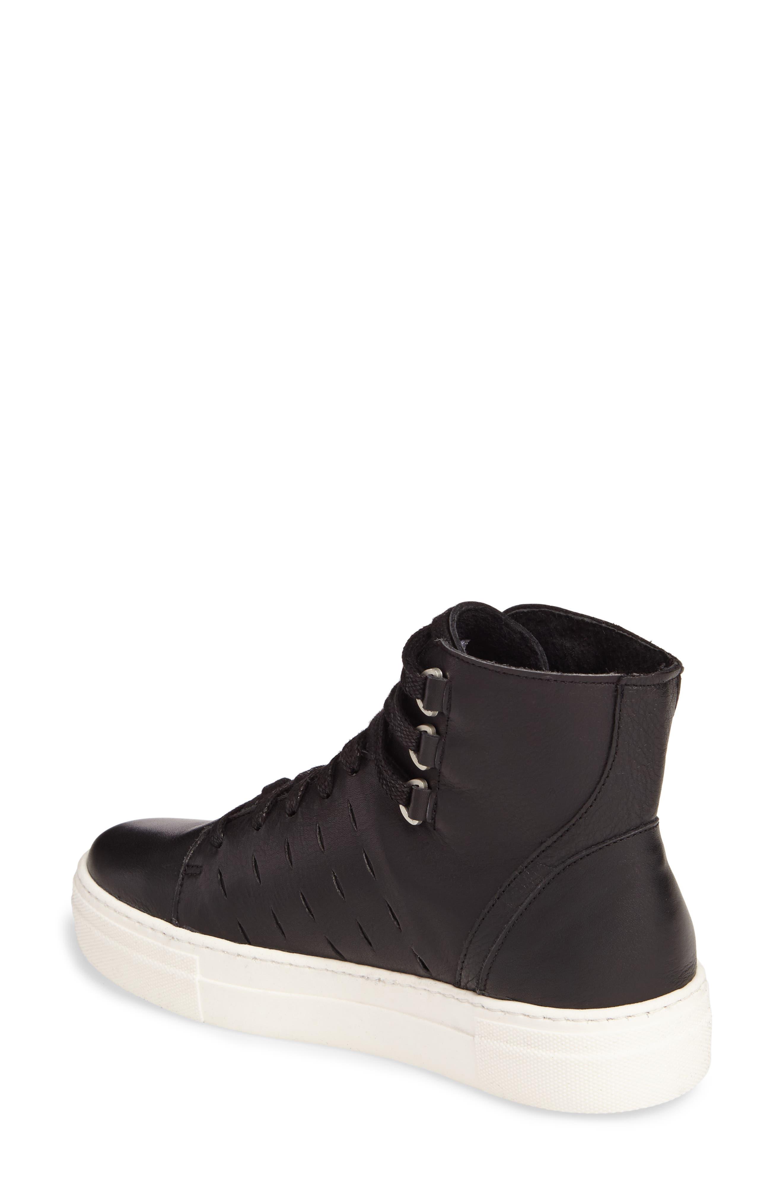Modern High Top Sneaker,                             Alternate thumbnail 2, color,                             BLACK/ OFF WHITE