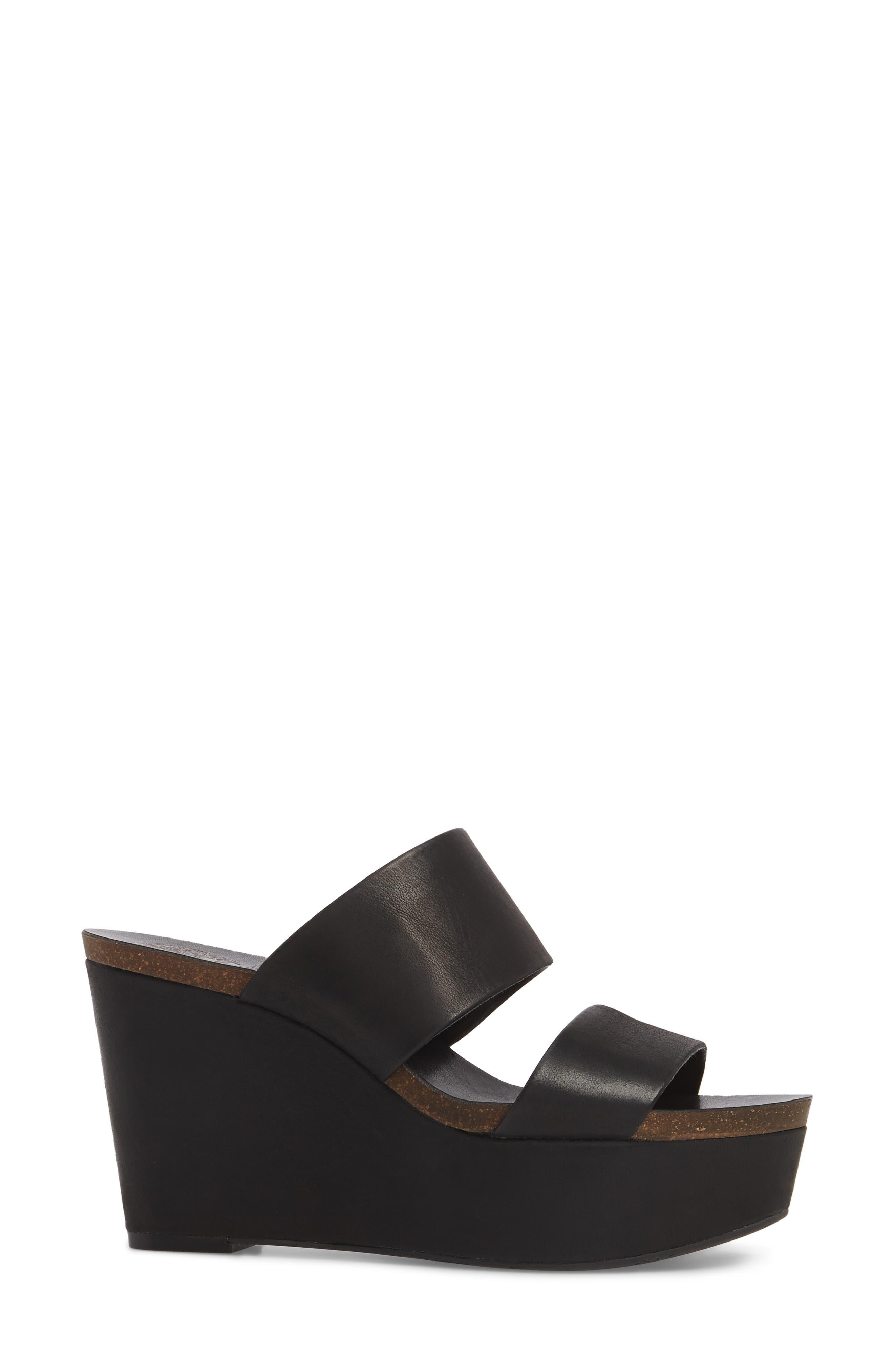 Varenia Platform Wedge Sandal,                             Alternate thumbnail 3, color,                             001