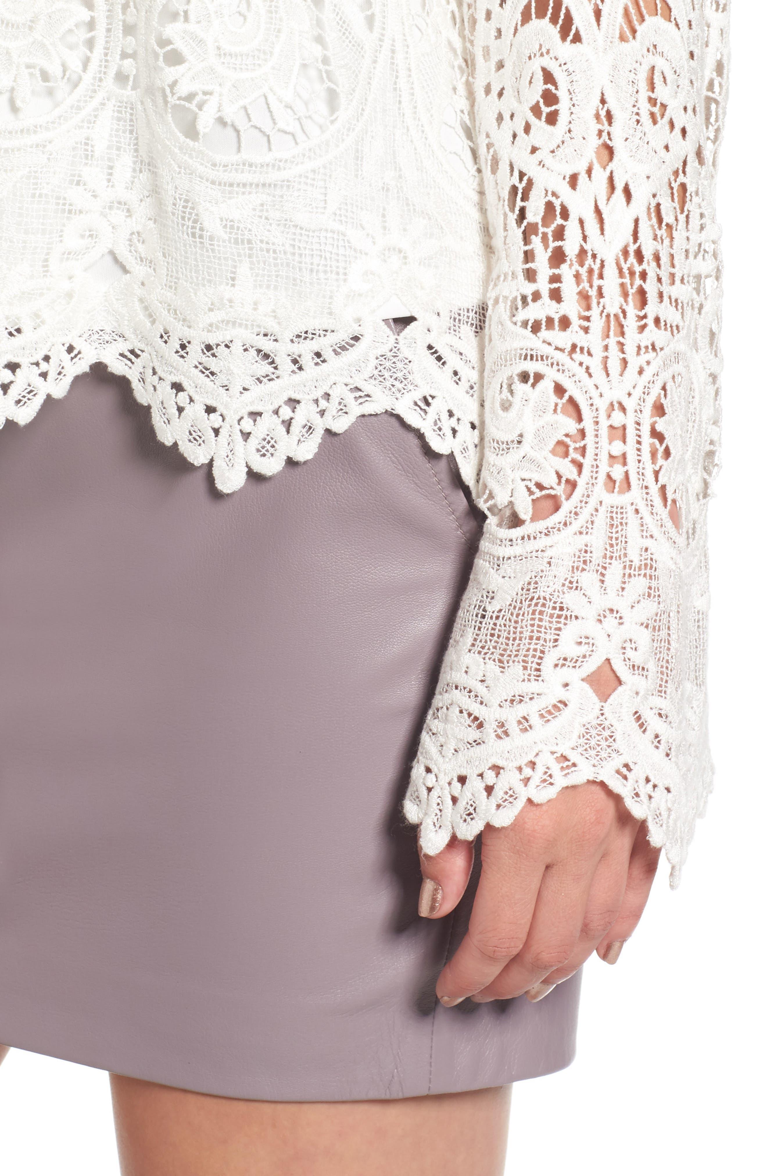 Lenox Lace Top,                             Alternate thumbnail 4, color,                             900