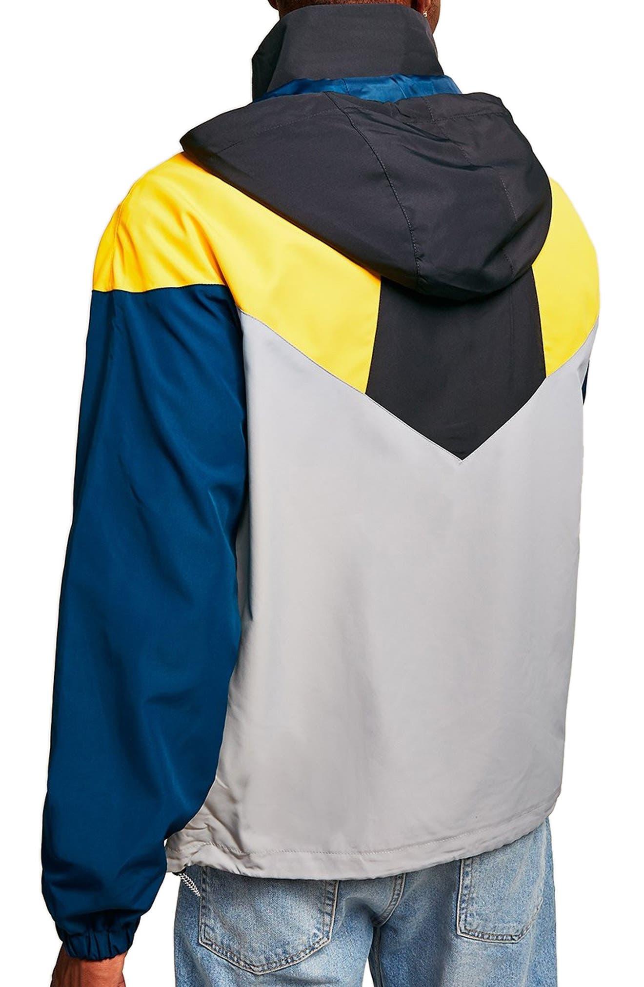 Half-Zip Pullover Hooded Jacket,                             Alternate thumbnail 2, color,                             001