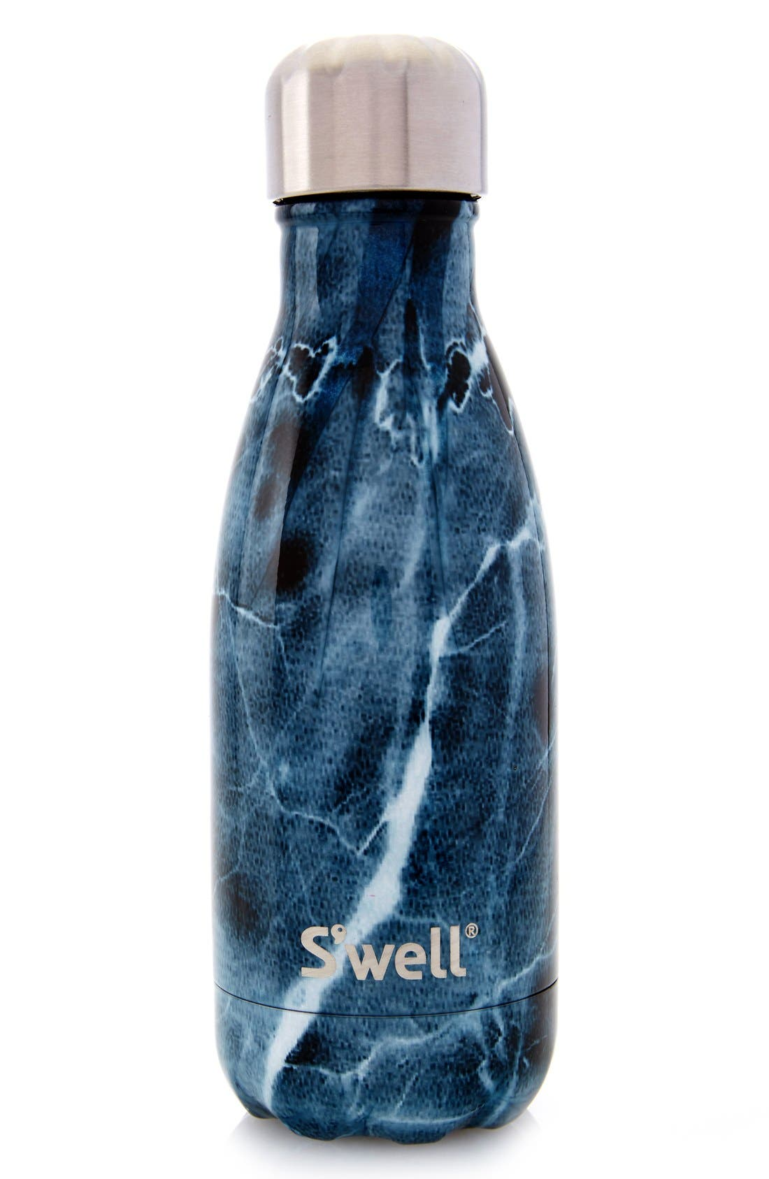 Elements Collection - Blue Marble Stainless Steel Water Bottle,                             Alternate thumbnail 6, color,                             400