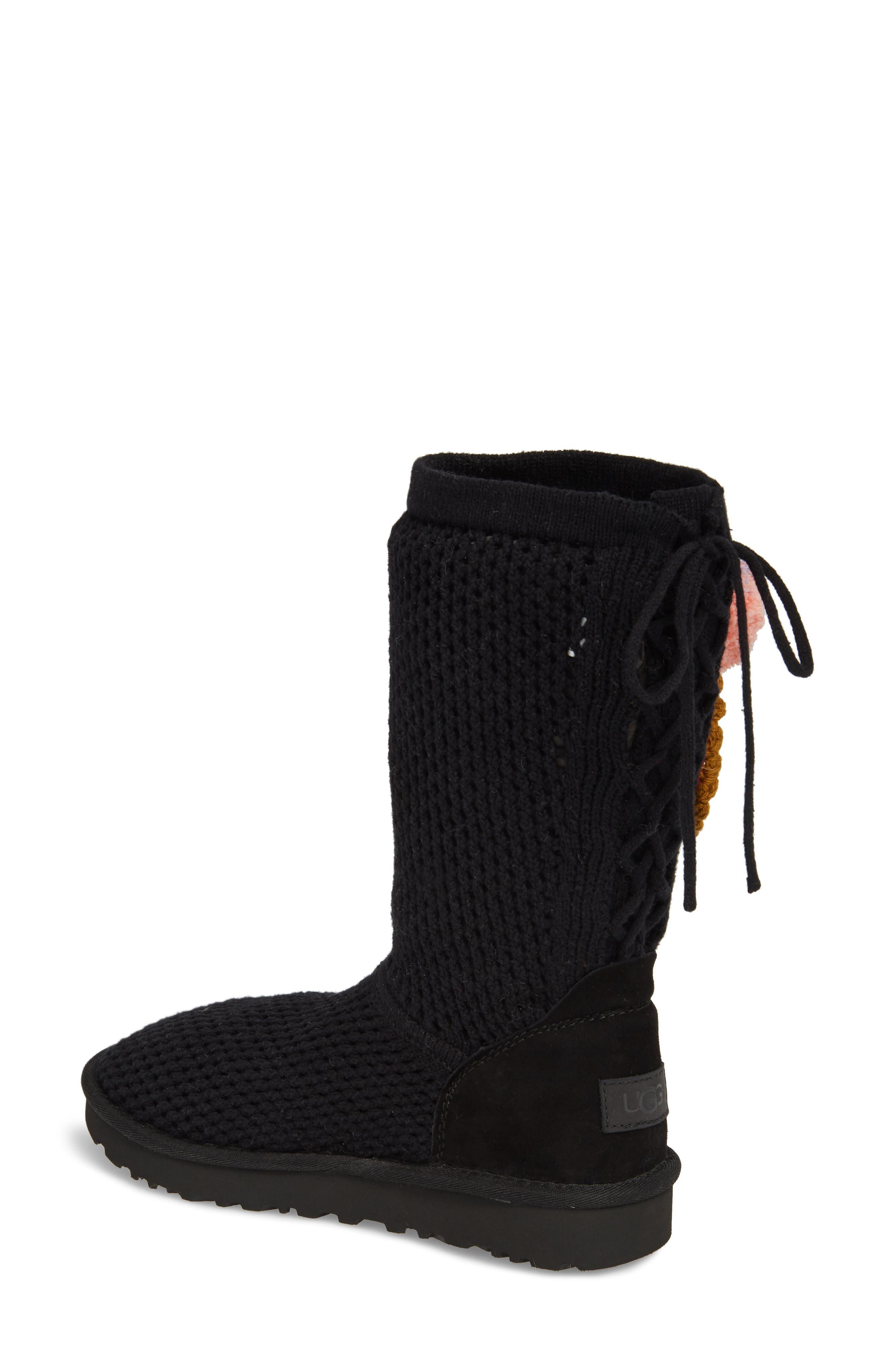 Crochet Classic Tall Boot,                             Alternate thumbnail 2, color,