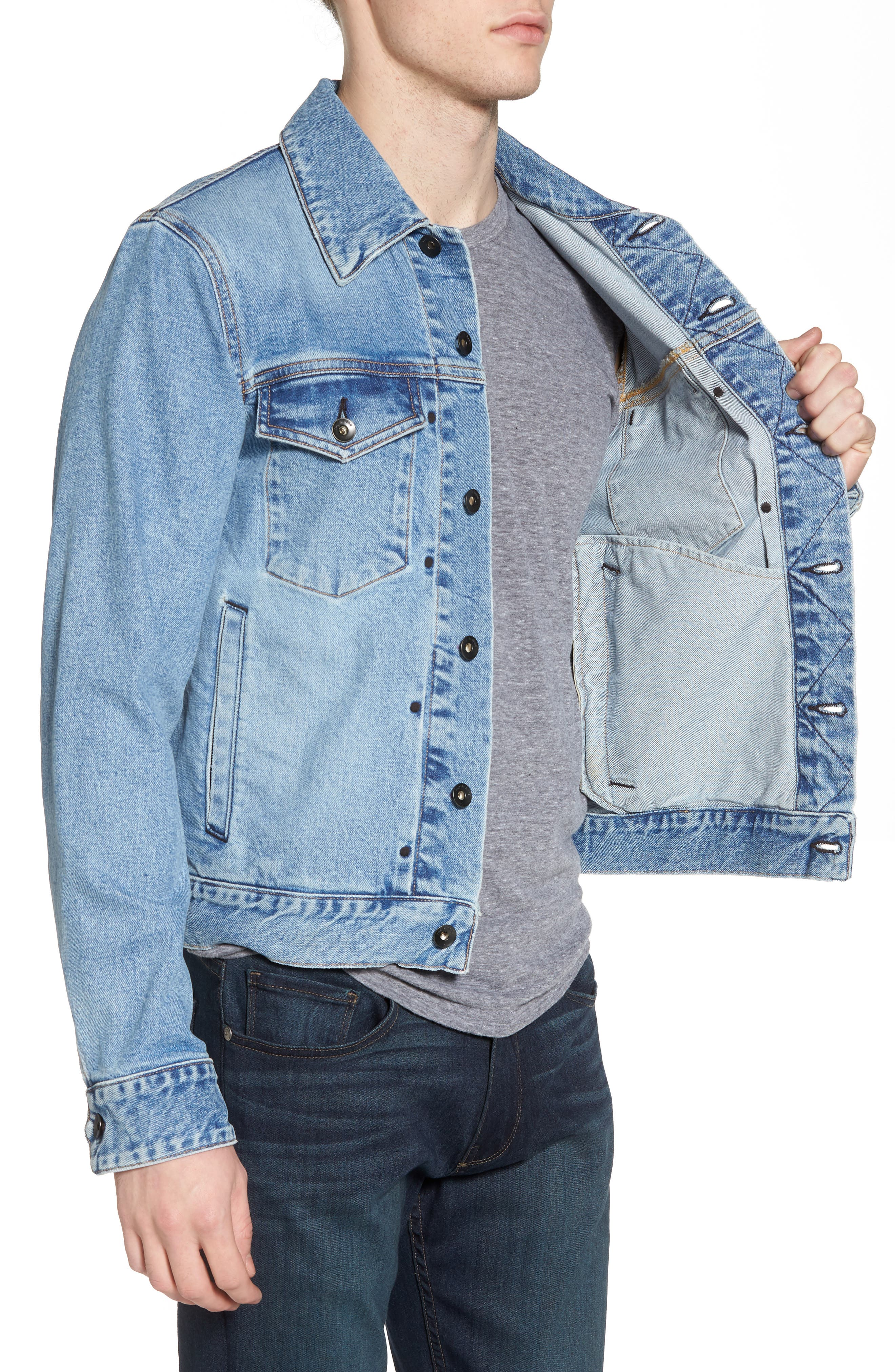 Jean Jacket,                             Alternate thumbnail 3, color,                             450
