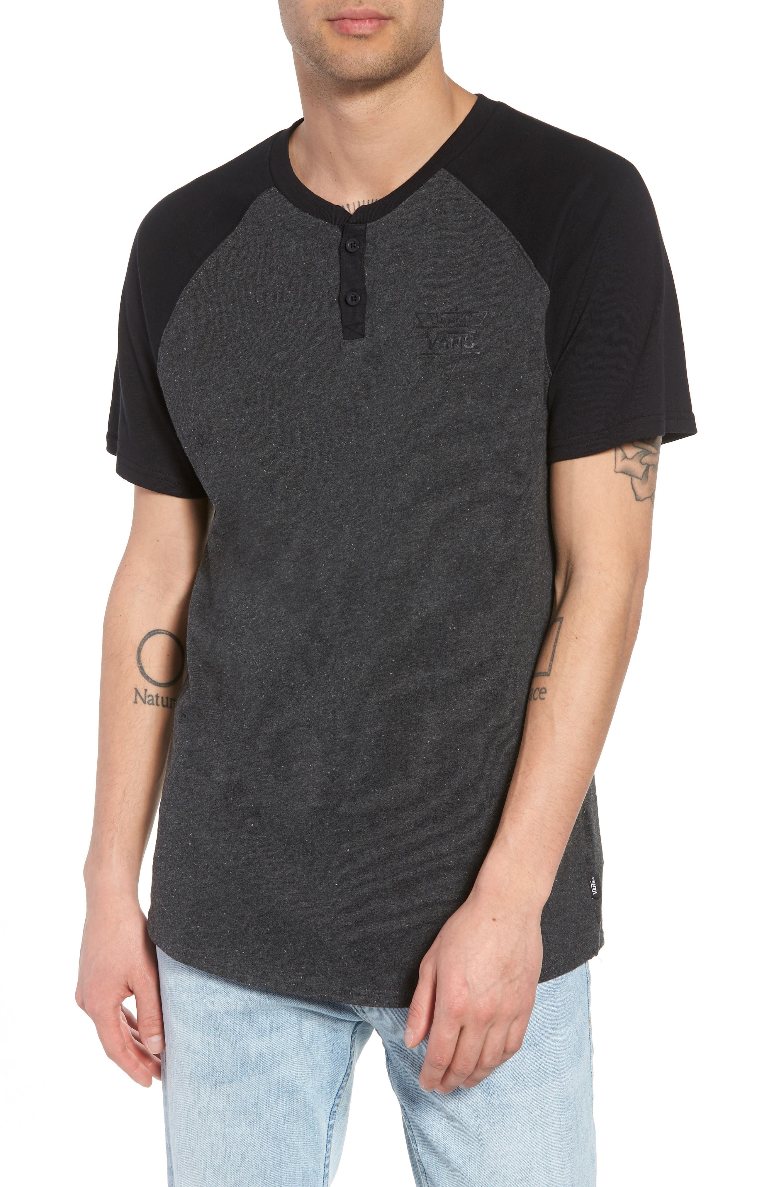 Hitson III Henley T-Shirt,                         Main,                         color, 001