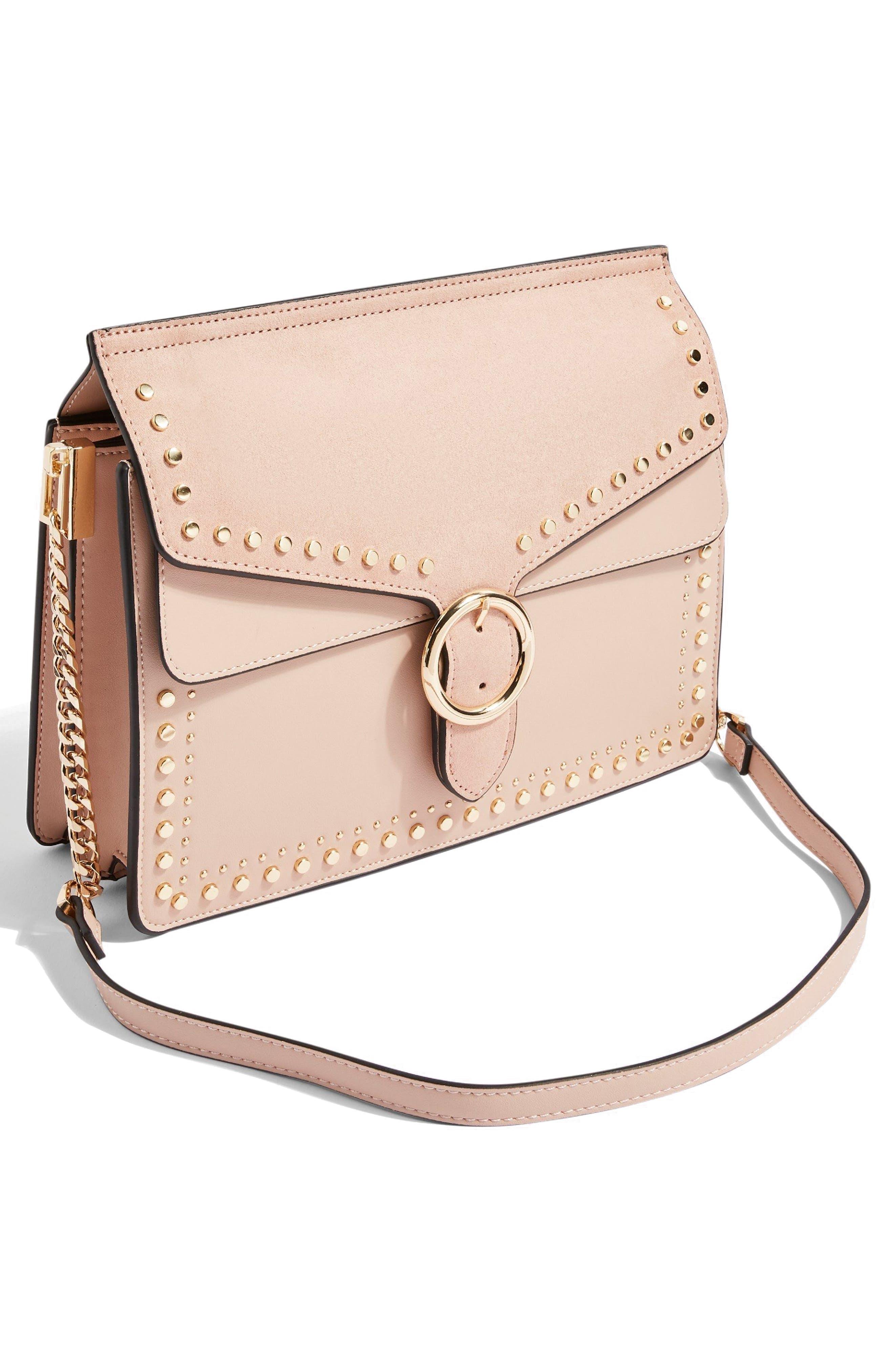 Peony Studded Shoulder Bag,                             Alternate thumbnail 15, color,