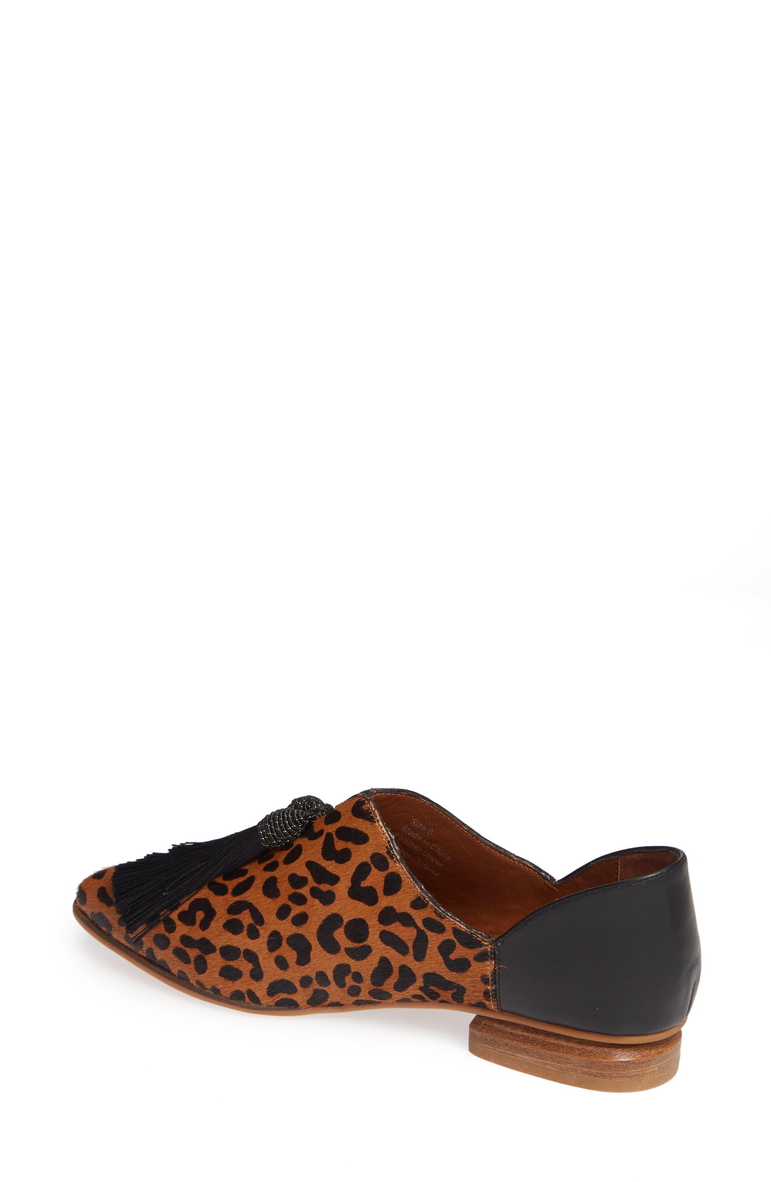 SBICCA,                             Primwood Tassel Loafer,                             Alternate thumbnail 2, color,                             BLACK LEOPARD LEATHER