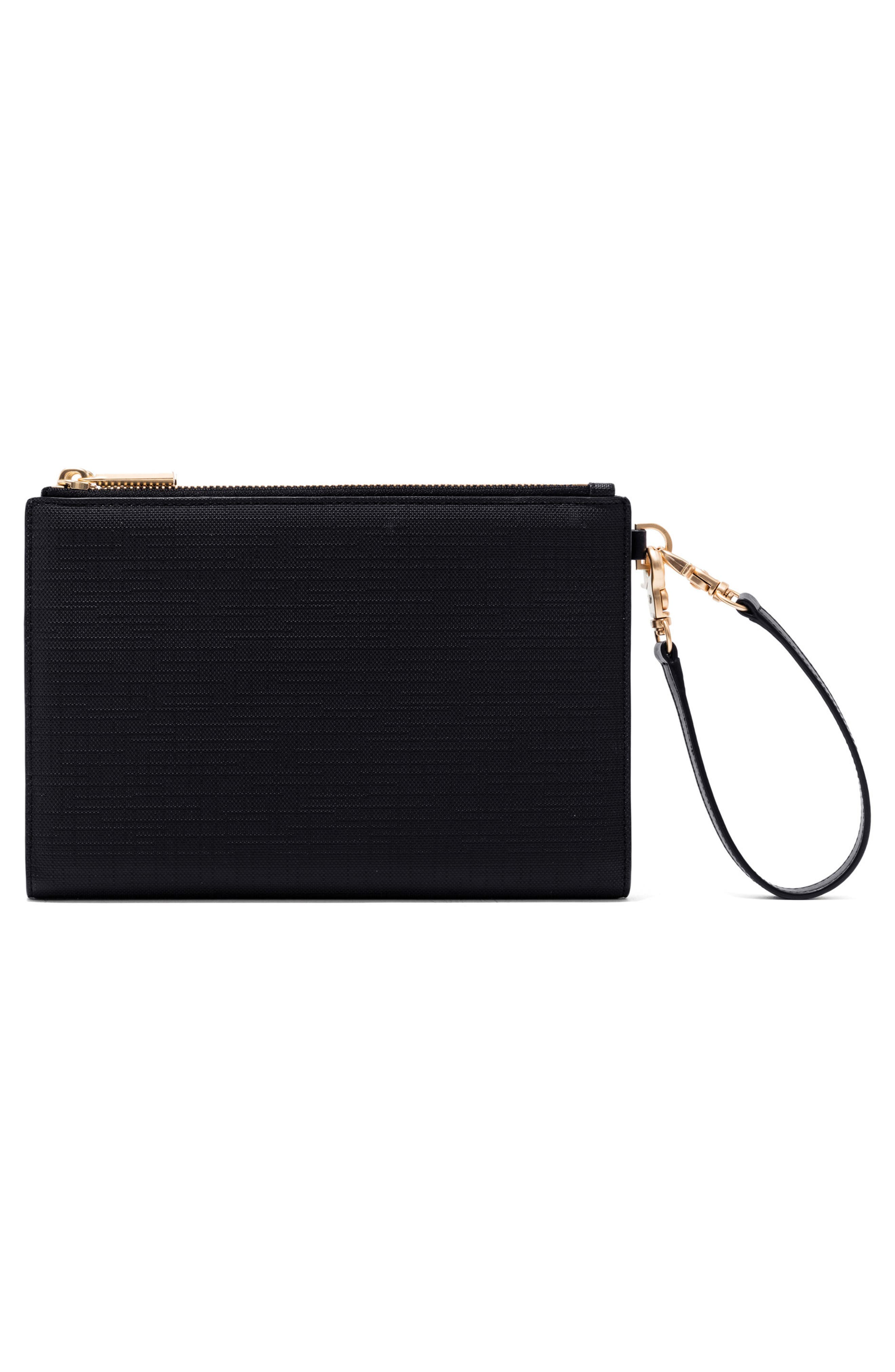 Signature Essentials Coated Canvas Clutch/Wallet,                             Alternate thumbnail 3, color,                             ONYX