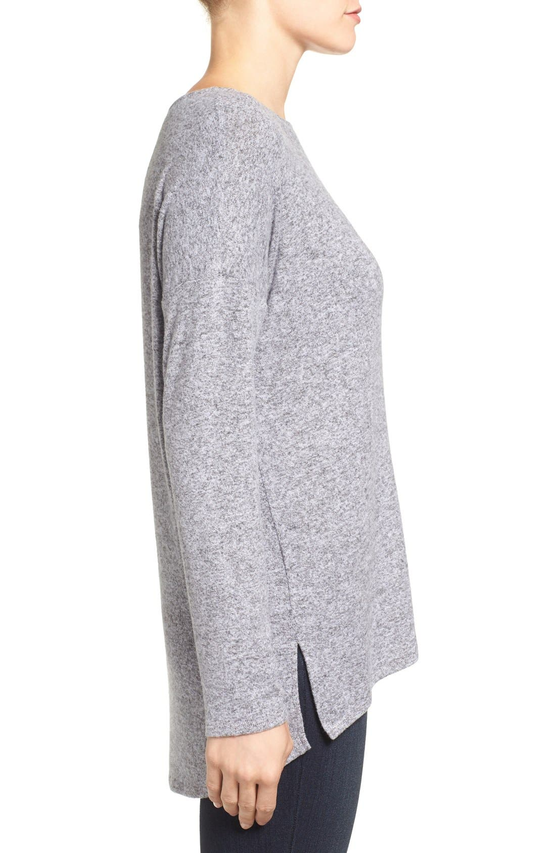 Cozy Ballet Neck High/Low Pullover,                             Alternate thumbnail 49, color,