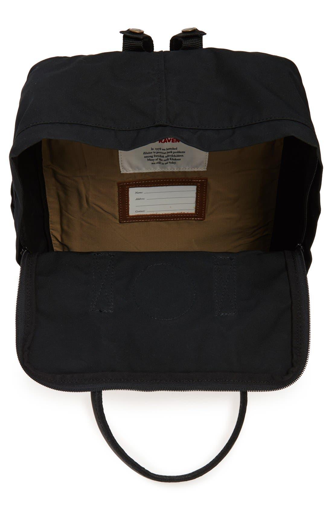 'Kånken No. 2' Water Resistant Backpack,                             Alternate thumbnail 3, color,                             BLACK