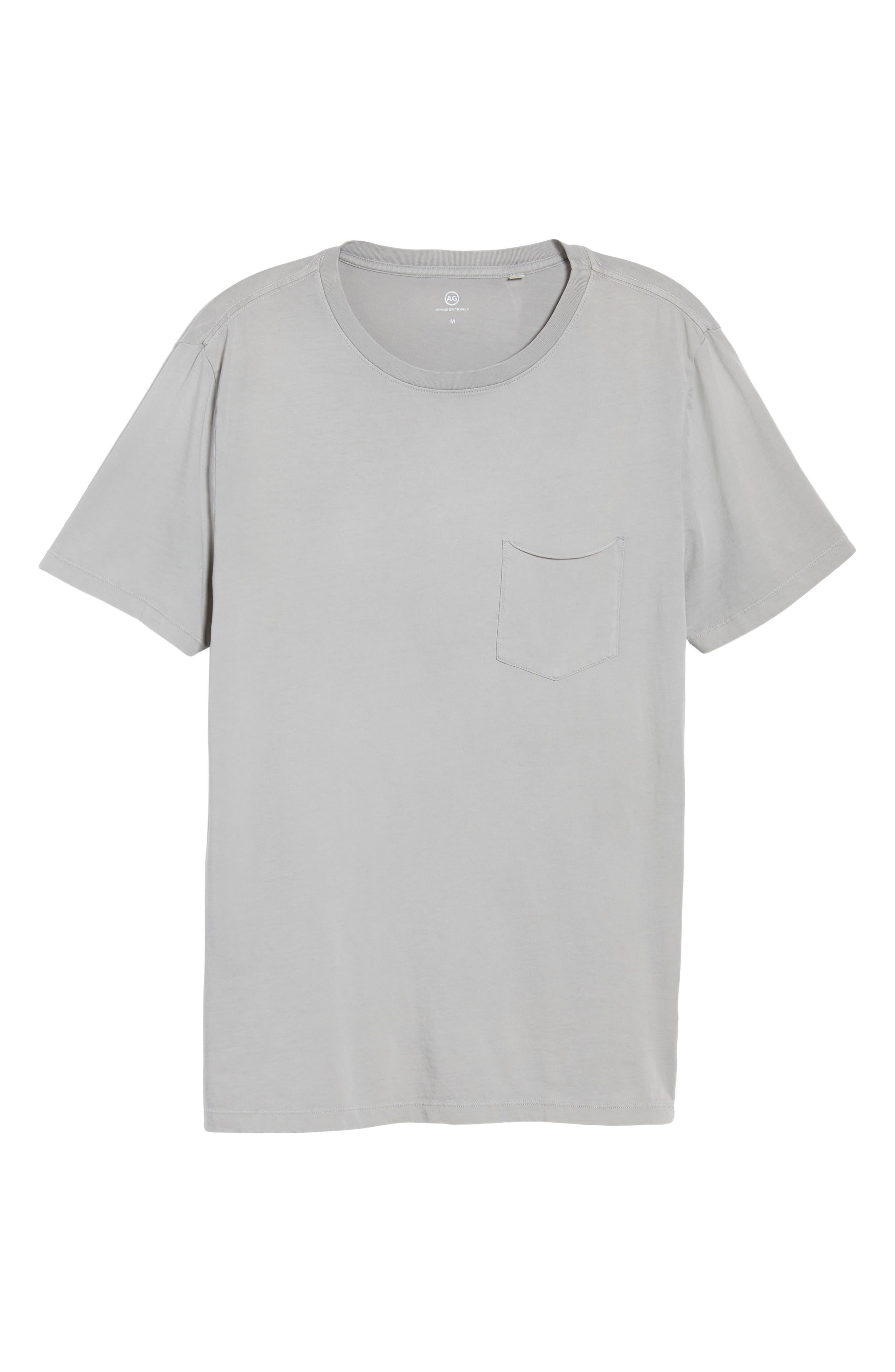 Anders Slim Fit Pocket T-Shirt,                             Alternate thumbnail 6, color,                             SUN FADED PEBBLE BEACH