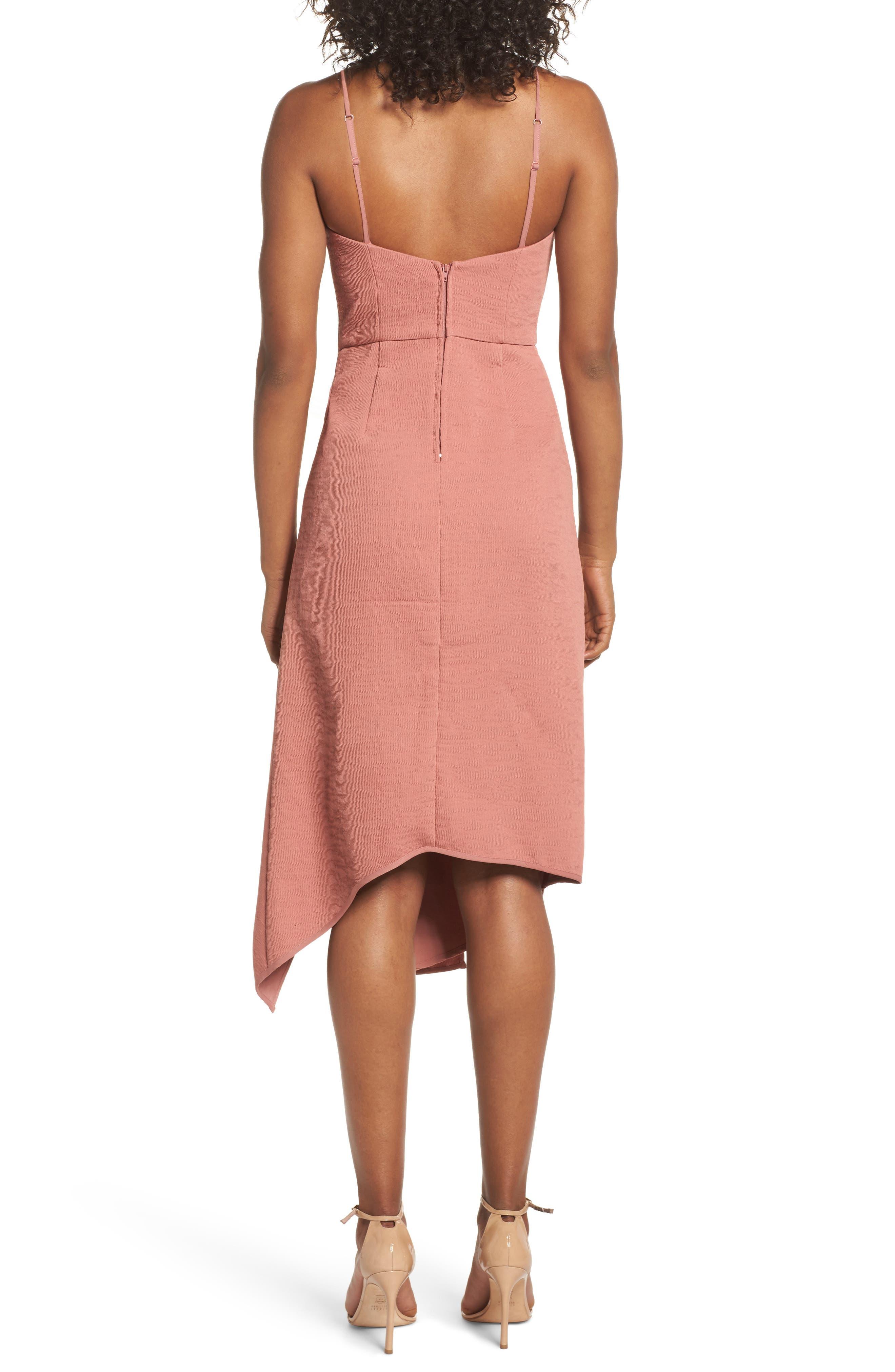 Fluidity Draped Midi Dress,                             Alternate thumbnail 2, color,