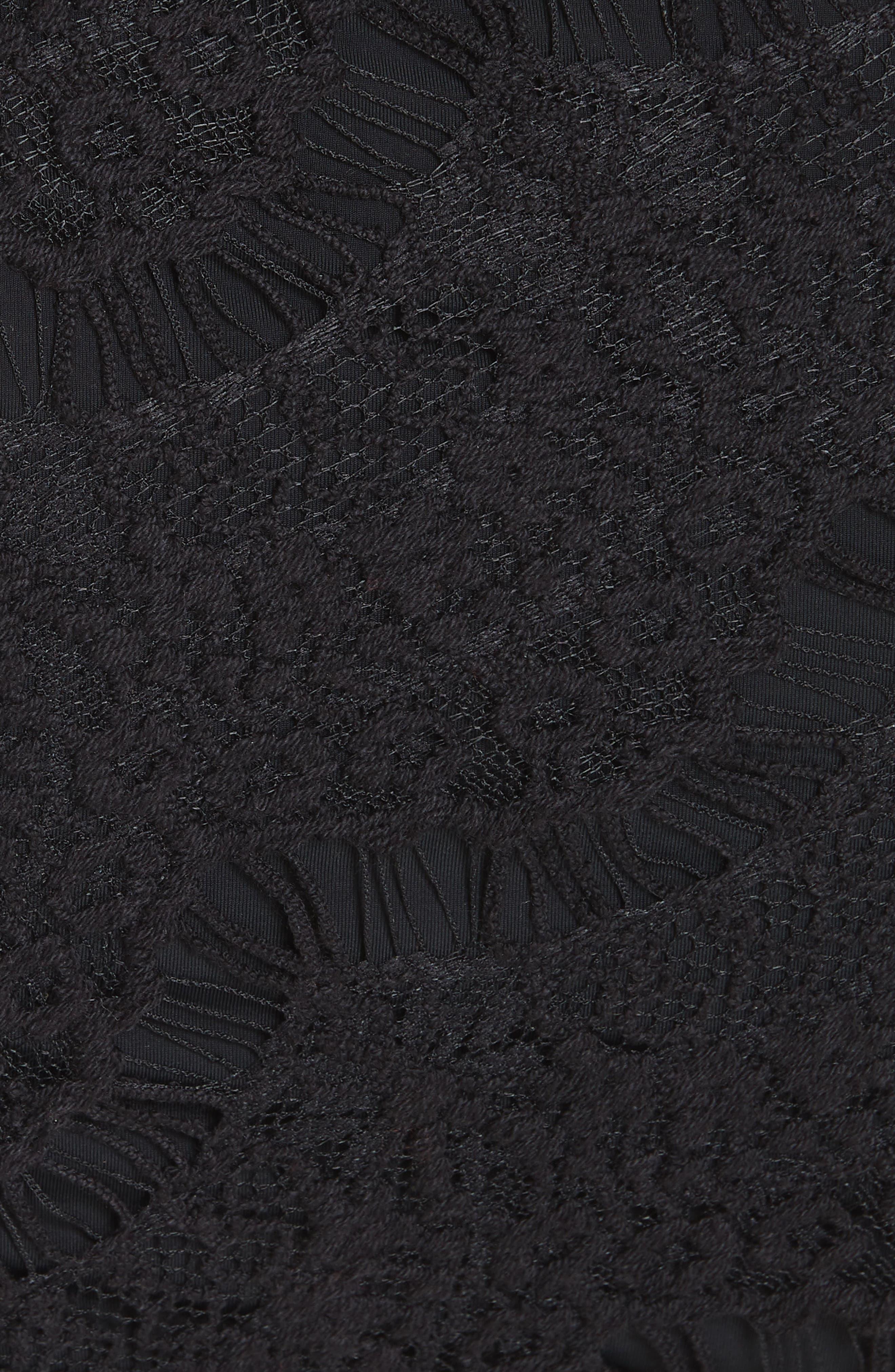 Sabina Crop Top & Skirt,                             Alternate thumbnail 5, color,                             BLACK