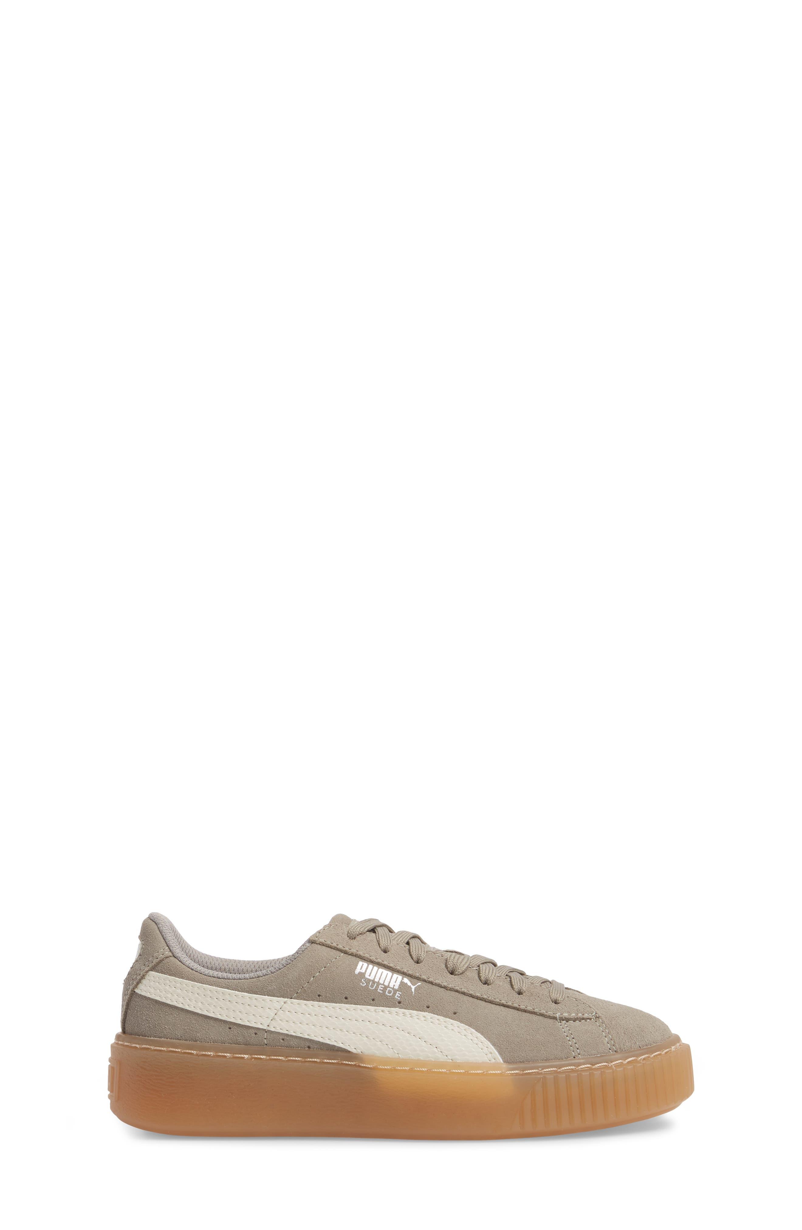 Suede Platform Jr Sneaker,                             Alternate thumbnail 3, color,                             060