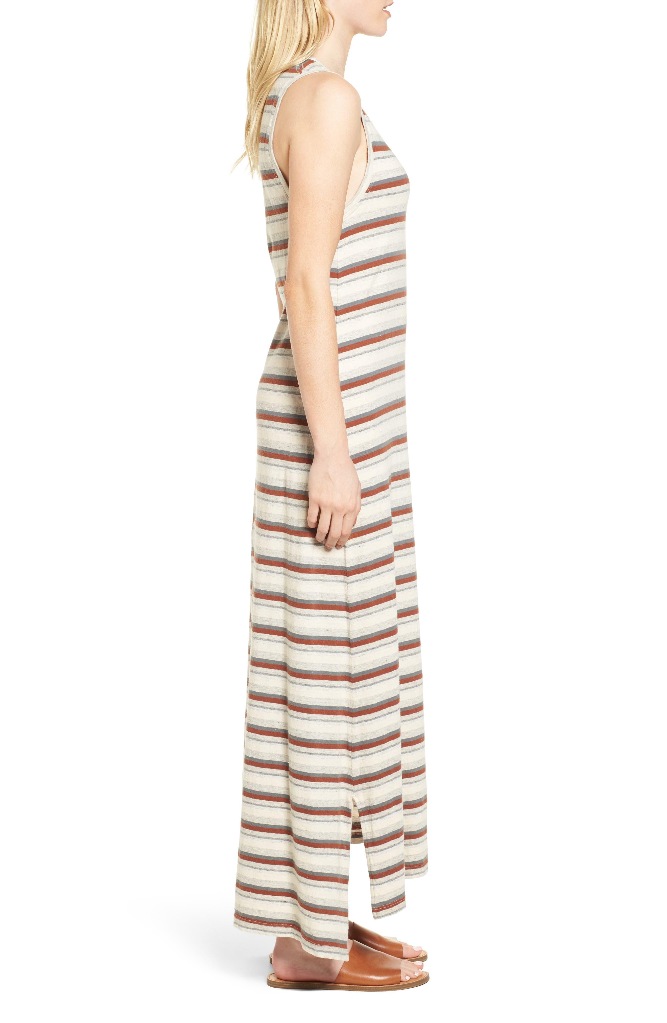 Sleeveless Stripe Dress,                             Alternate thumbnail 3, color,                             038