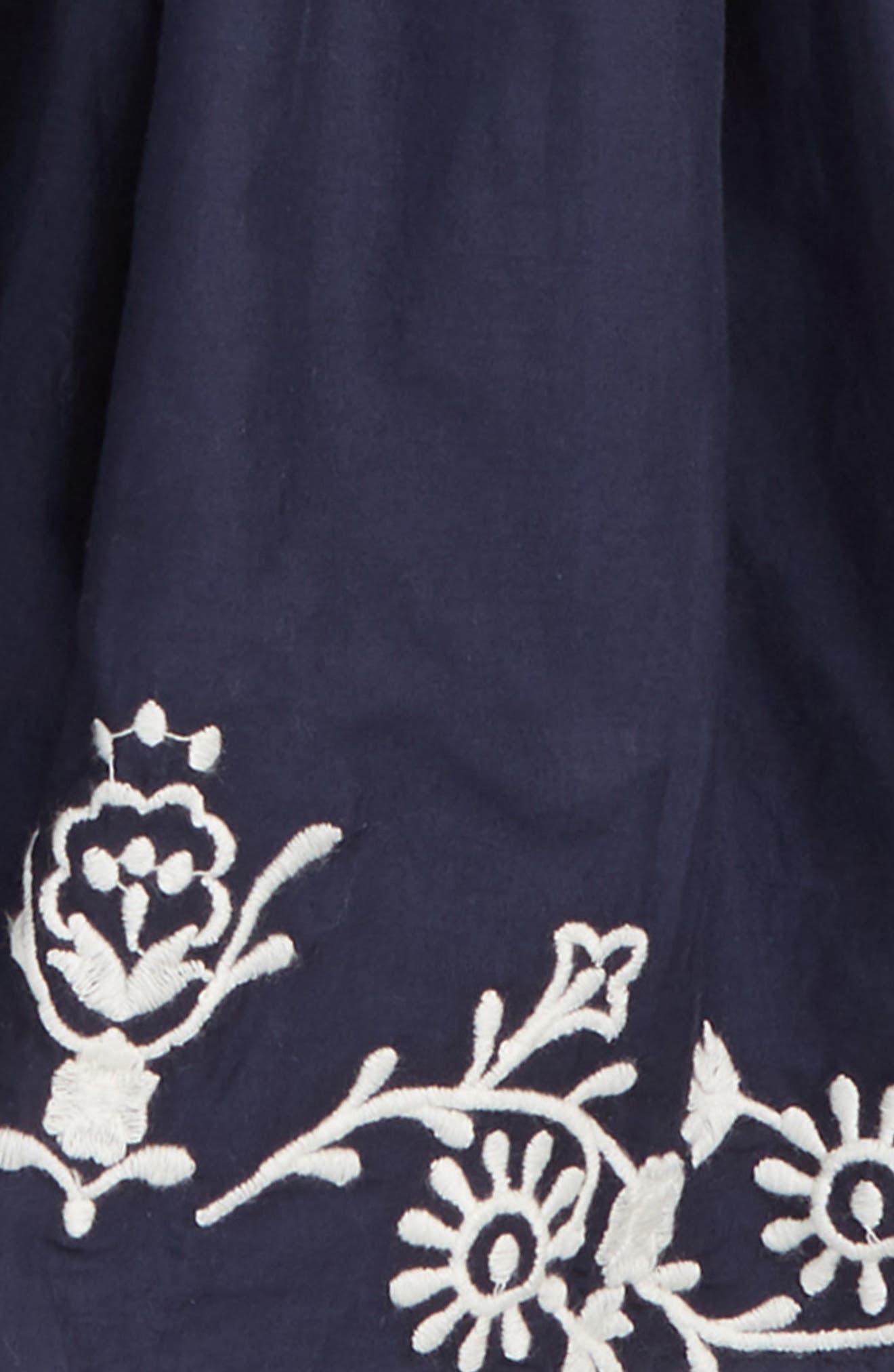 Embroidered Skirt,                             Alternate thumbnail 2, color,                             NAVY PEACOAT
