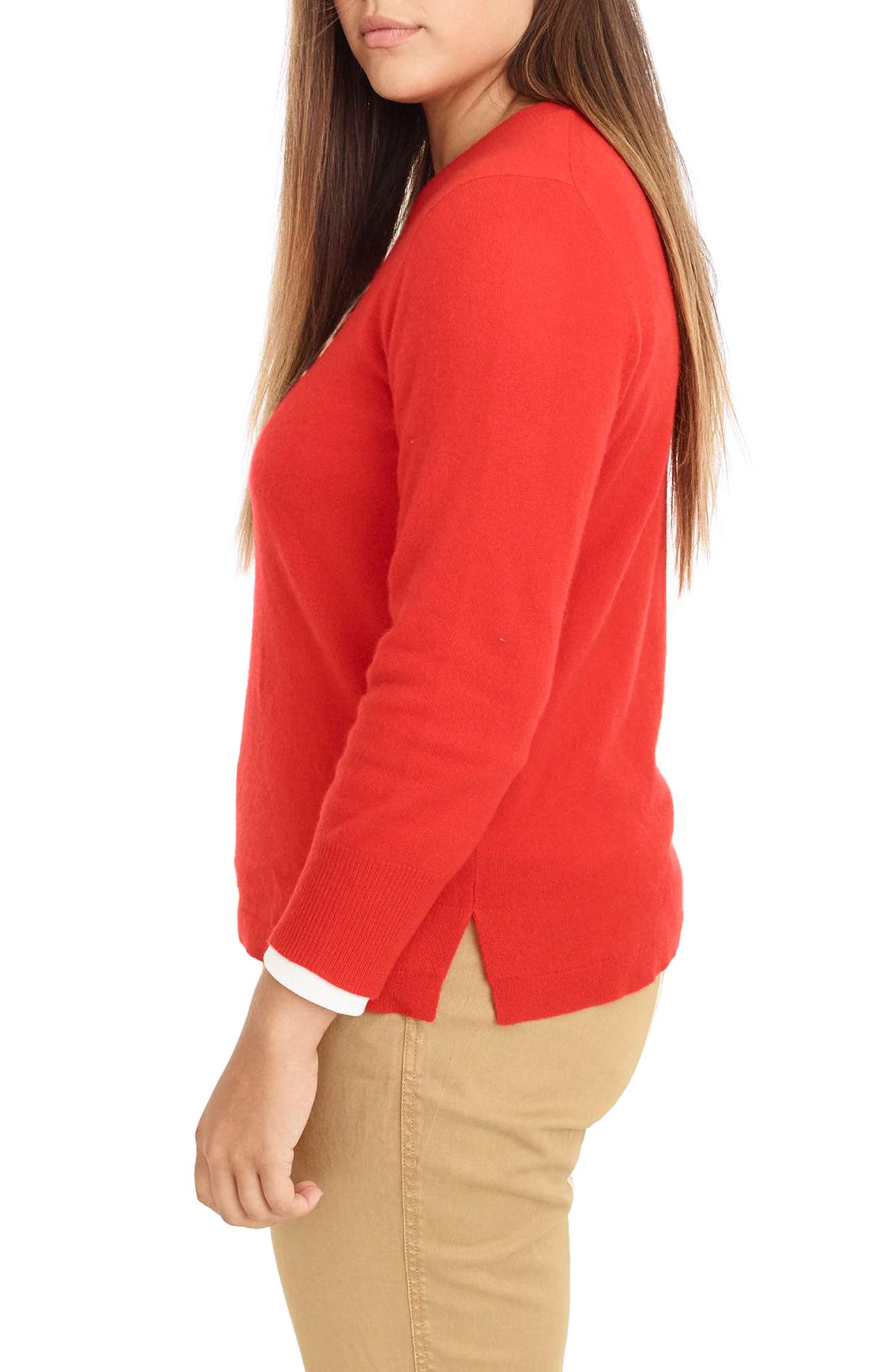 Leopard Heart Everyday Cashmere Sweater,                             Alternate thumbnail 8, color,                             600