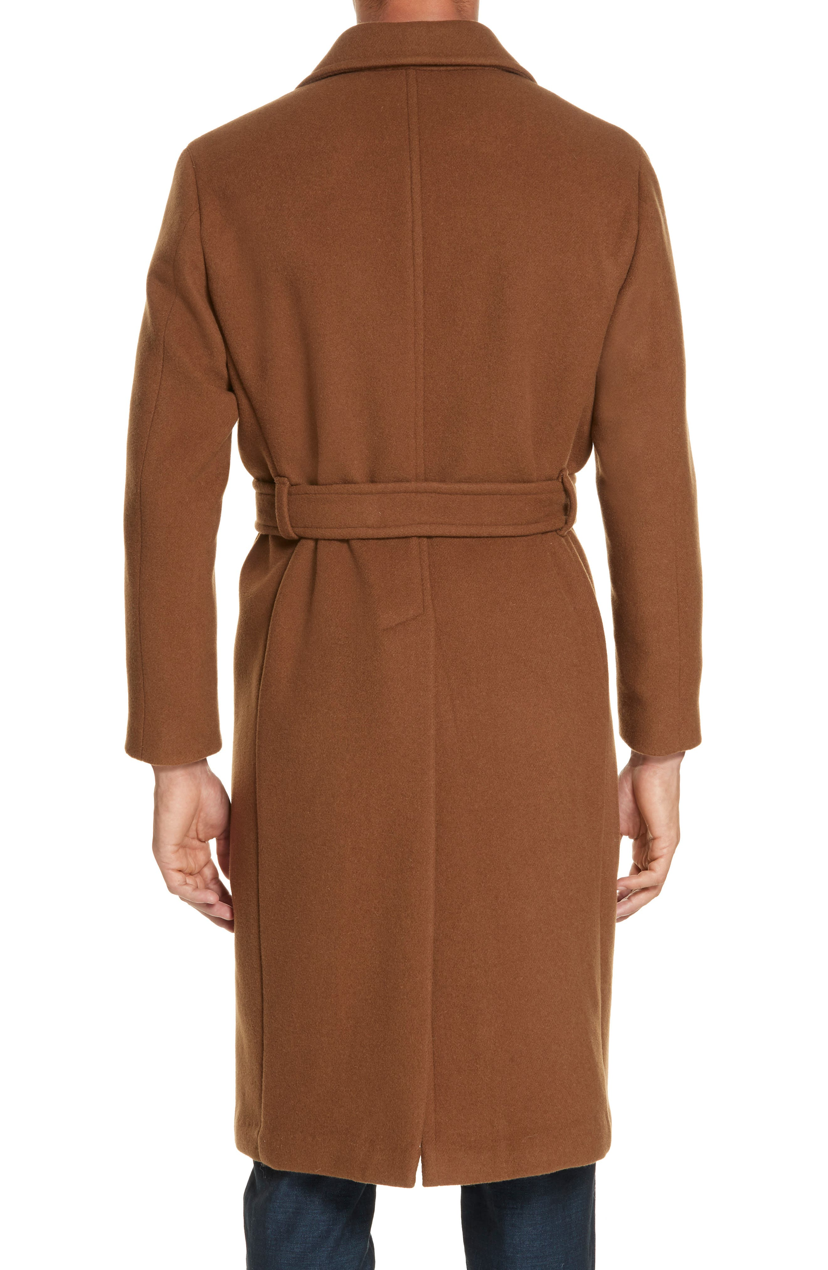 Wool & Cashmere Trench Coat,                             Alternate thumbnail 2, color,                             TAN