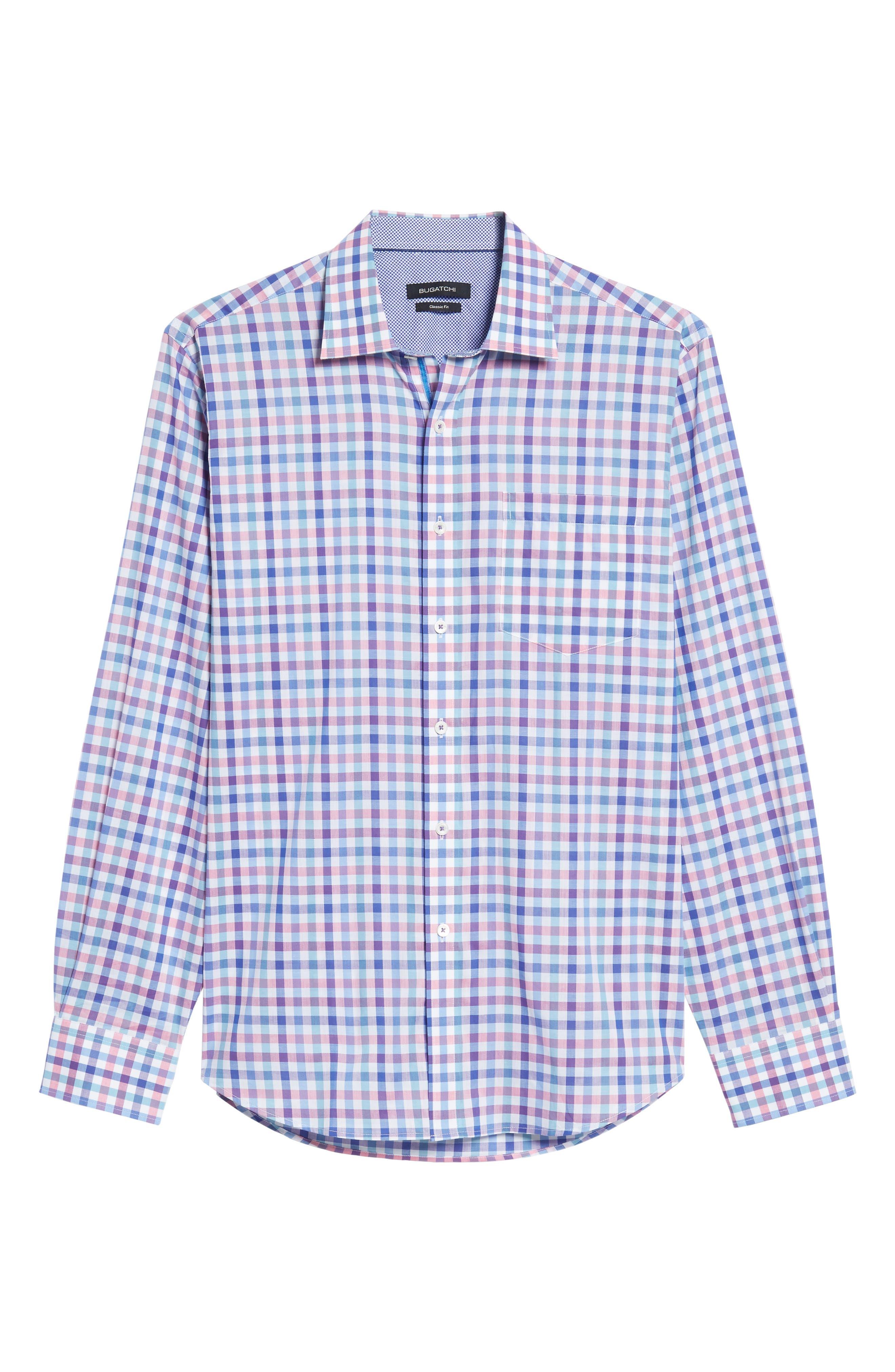 Classic Fit Check Sport Shirt,                             Alternate thumbnail 6, color,                             422