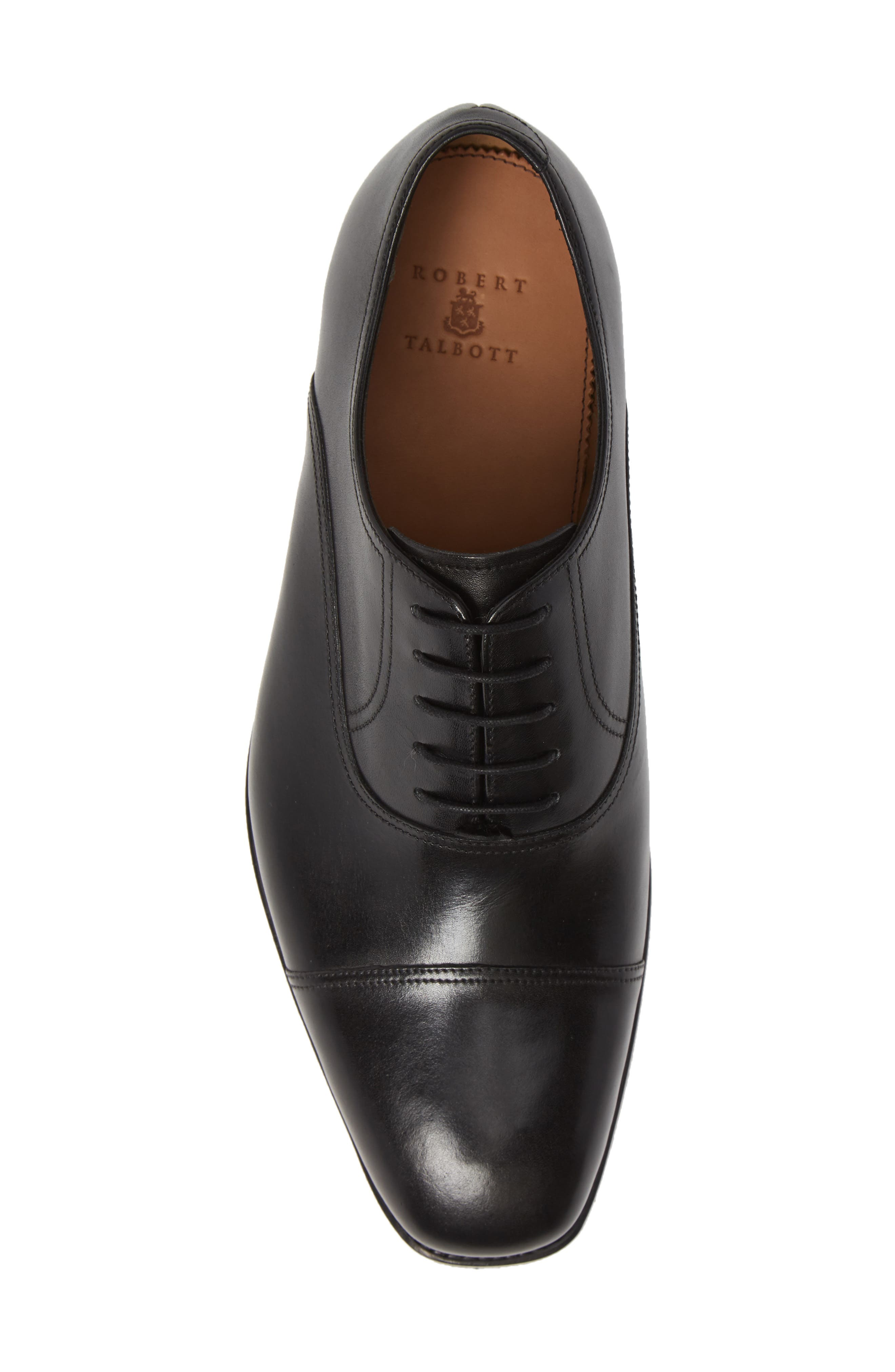 Tiburon Cap Toe Oxford,                             Alternate thumbnail 5, color,                             BLACK LEATHER