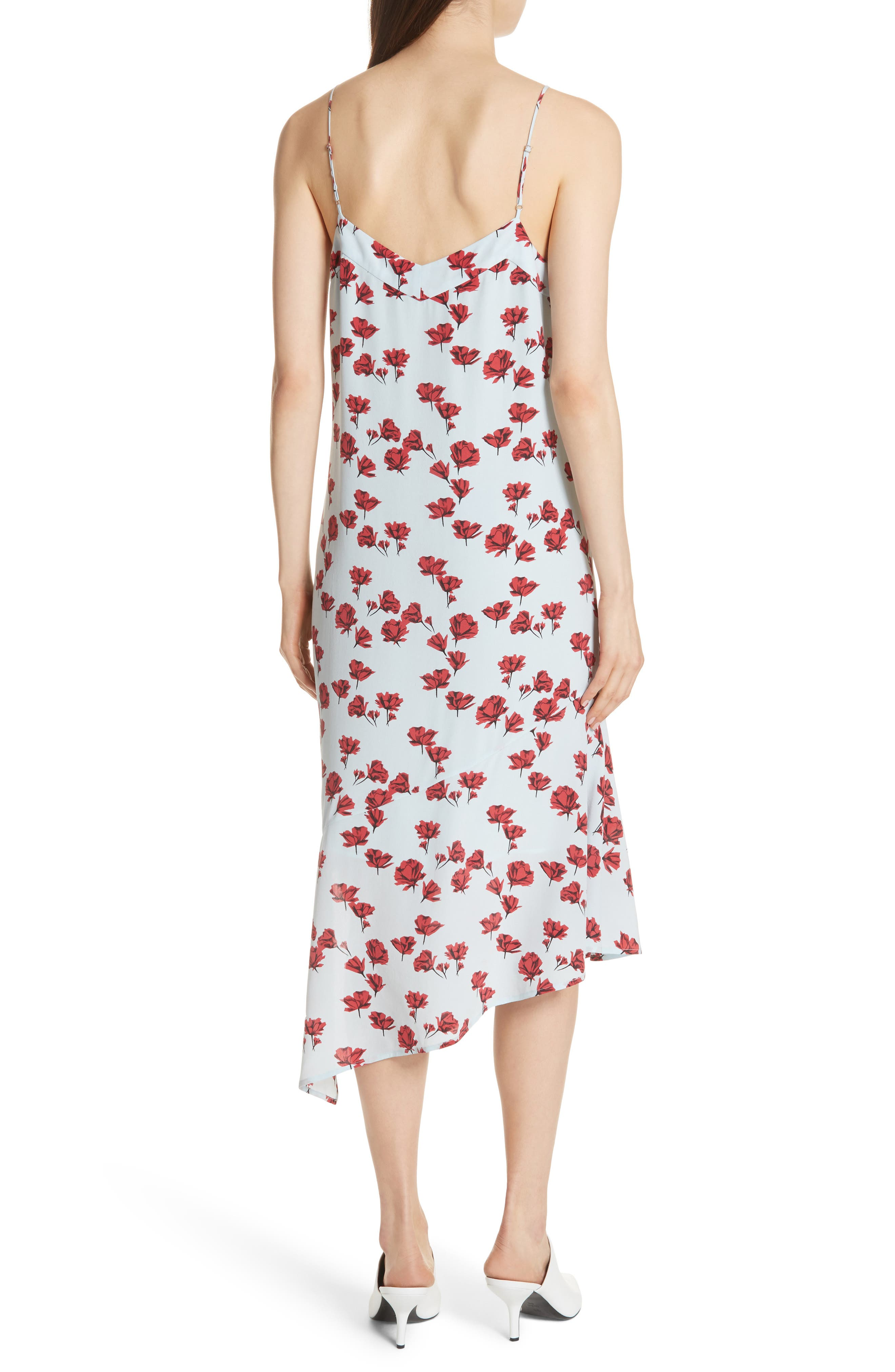 Jada Floral Print Silk Slipdress,                             Alternate thumbnail 2, color,