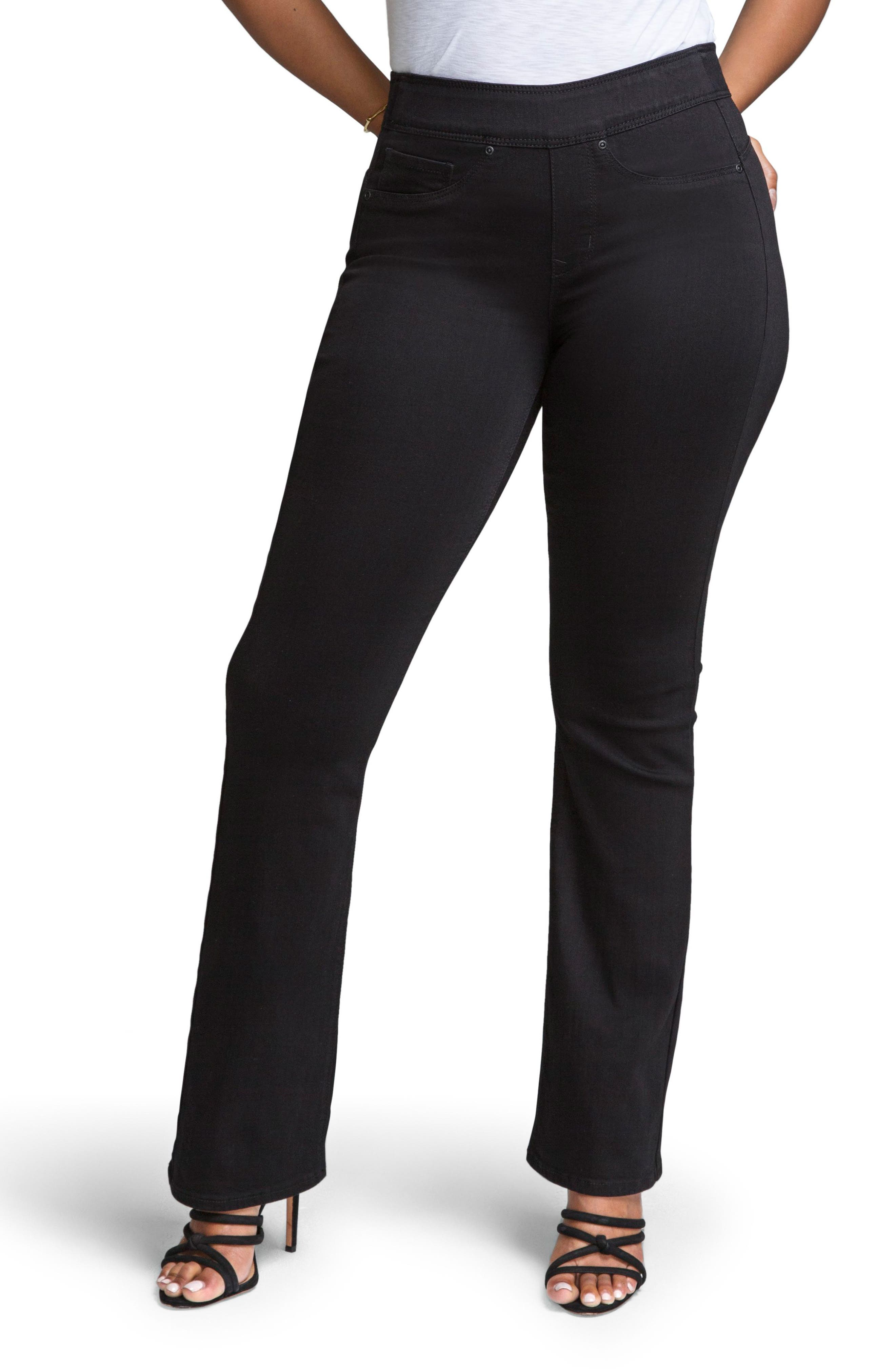 Pull-On Skinny Bootcut Jeans,                         Main,                         color, NUIT