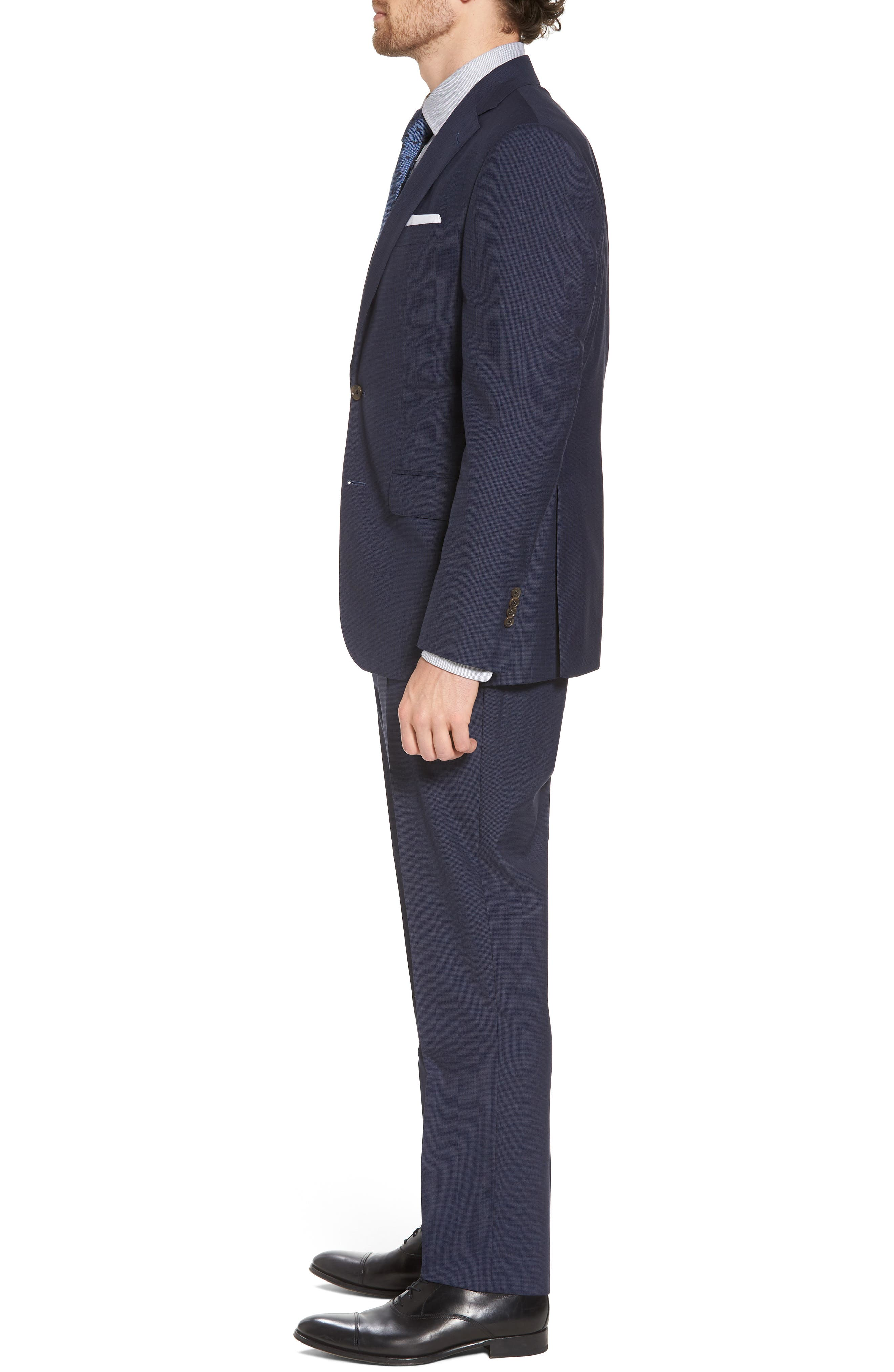 Ryan Classic Fit Houndstooth Wool Suit,                             Alternate thumbnail 3, color,                             410