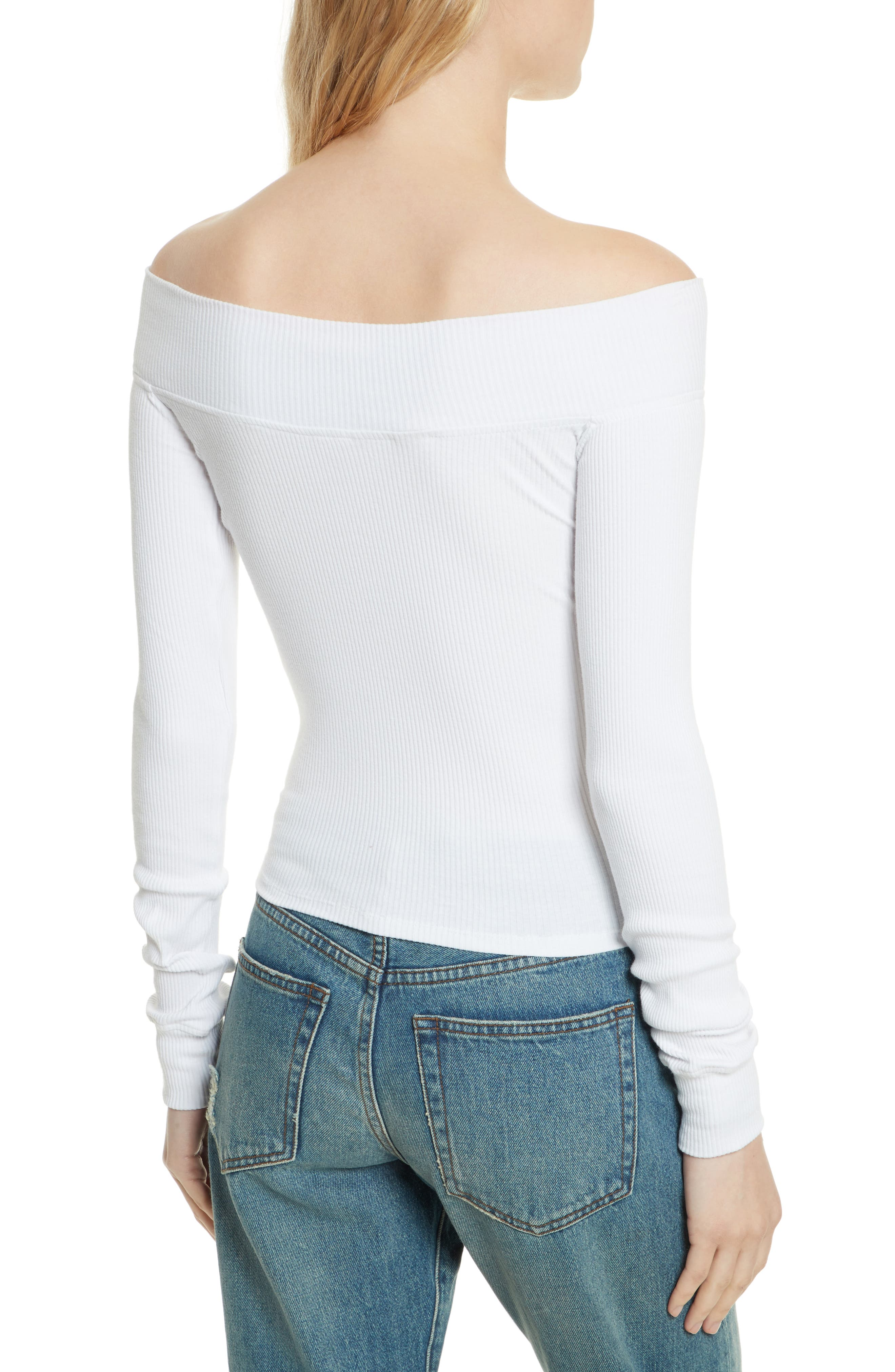 Zip to It Off the Shoulder Top,                             Alternate thumbnail 4, color,