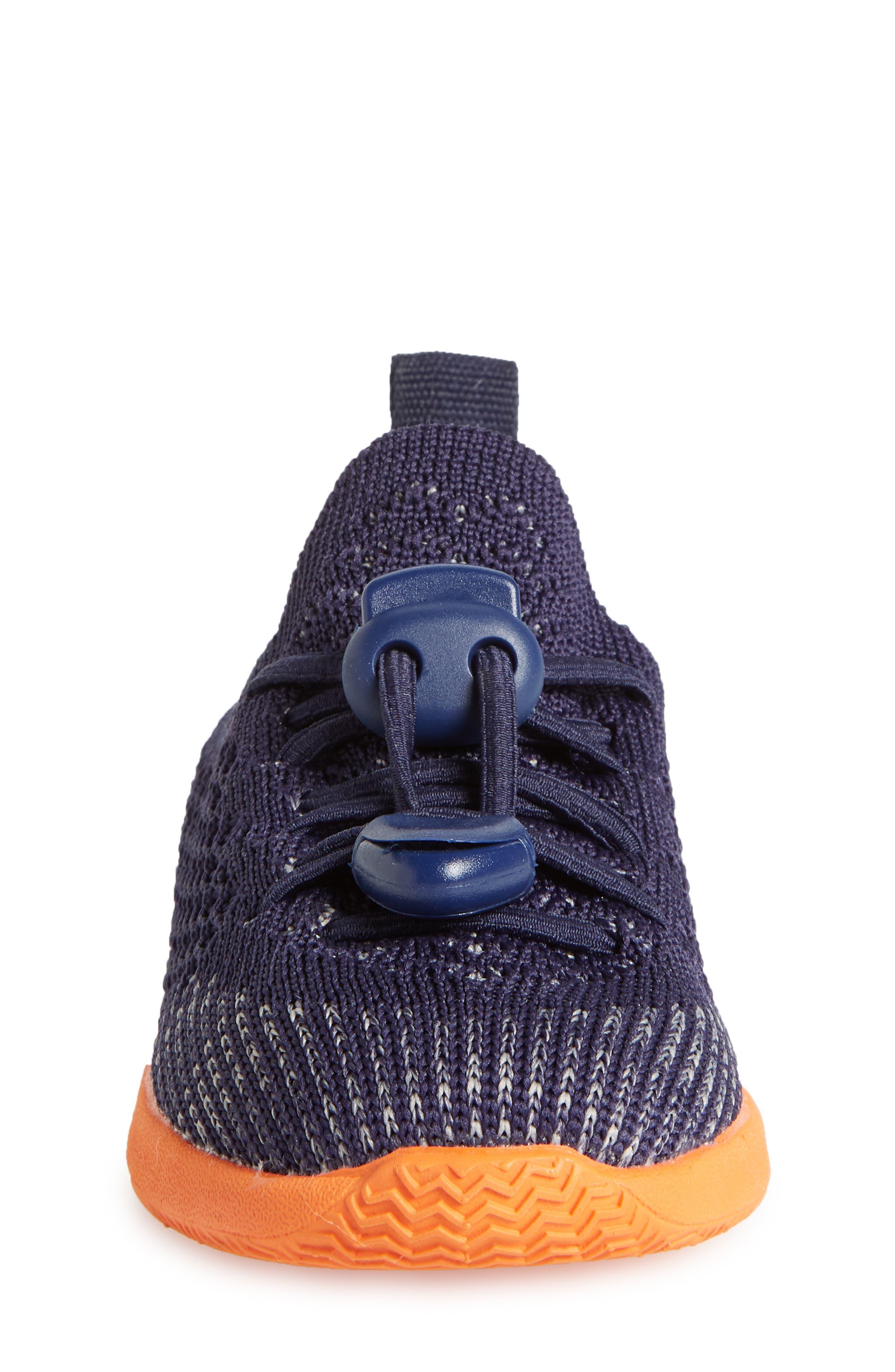 AP Mercury LiteKnit Sneaker,                             Alternate thumbnail 4, color,                             REGATTA BLUE/ SUNSET ORANGE