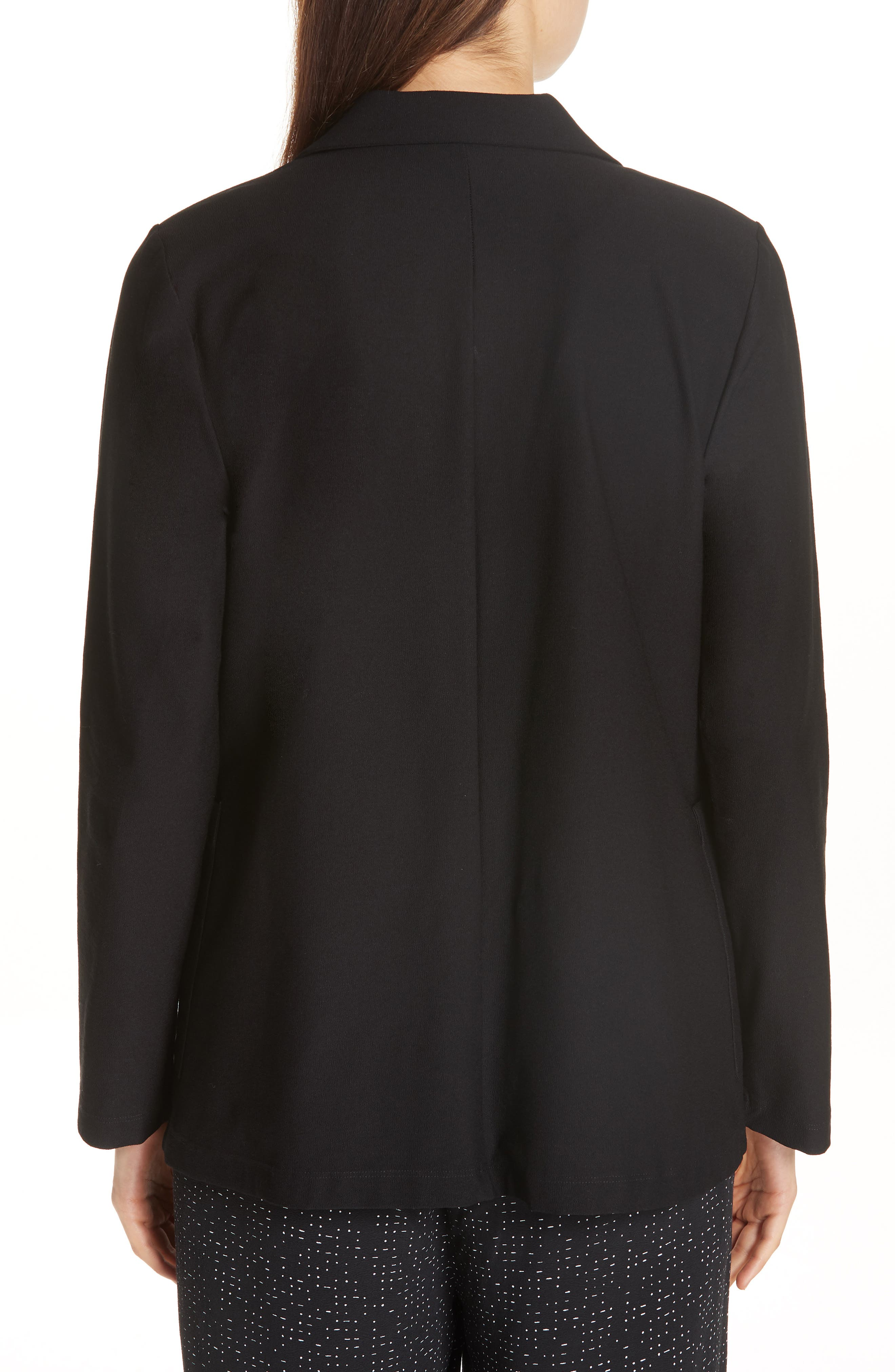 Classic Notch Collar Jacket,                             Alternate thumbnail 2, color,                             BLACK